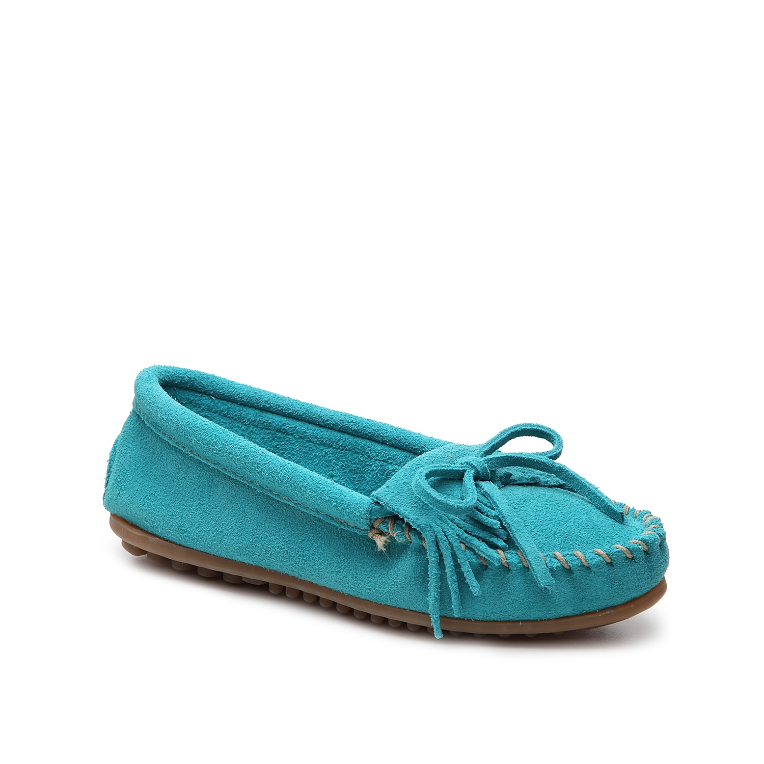 You\\\'re going to look so cute in this trendy Kilty moccasin by Minnetonka! This flat will be your favorite weekend pair due to its comfy construction, kiltie detailing, and fun styling.
