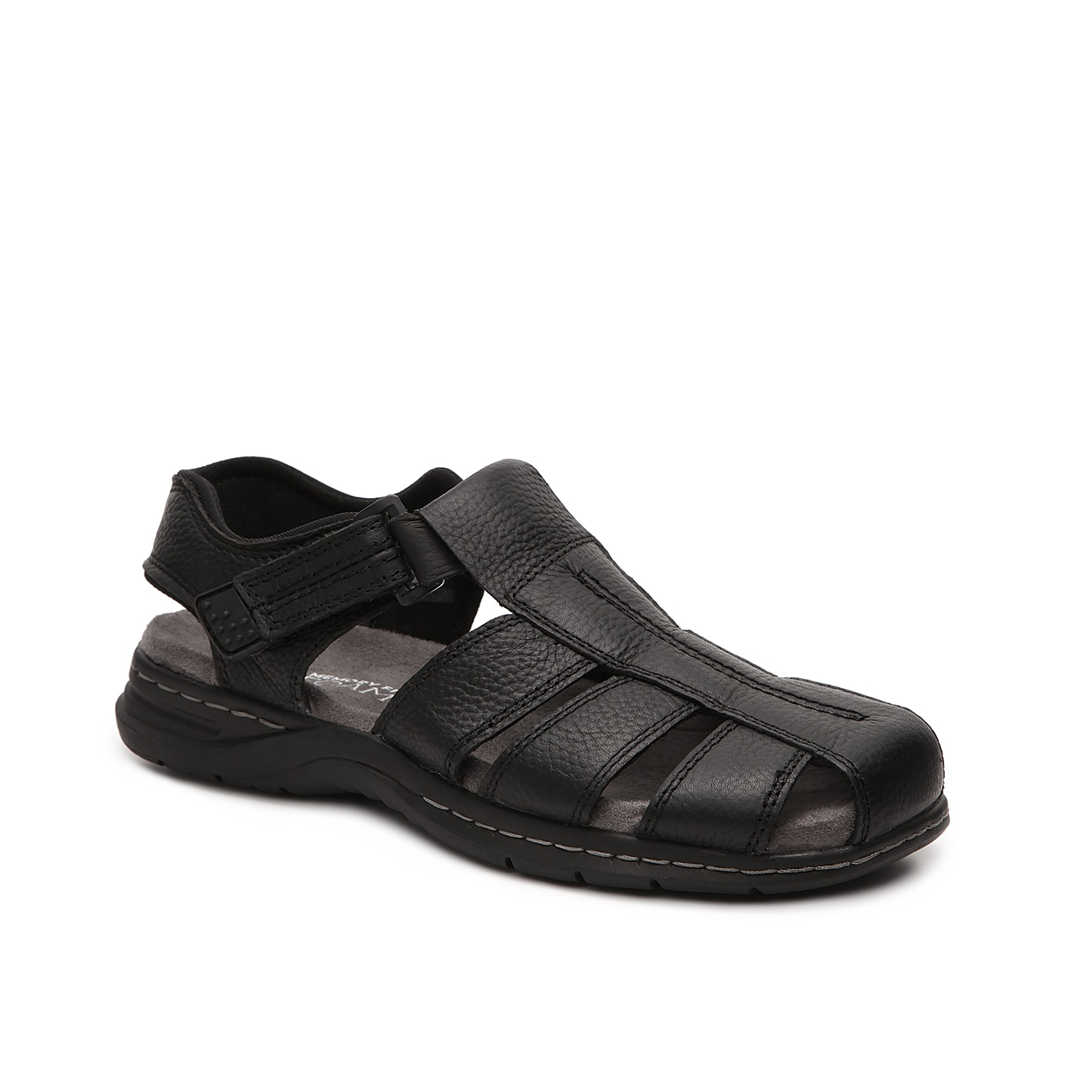 A great sandal for your everyday warm weather wear, the Gaston from Dr. Scholl\\\'s will keep your feet comfortable and well ventilated! Slip on these leather fisherman sandals to experience the Memory Fit® foam footbed and flexibility they have to offer.