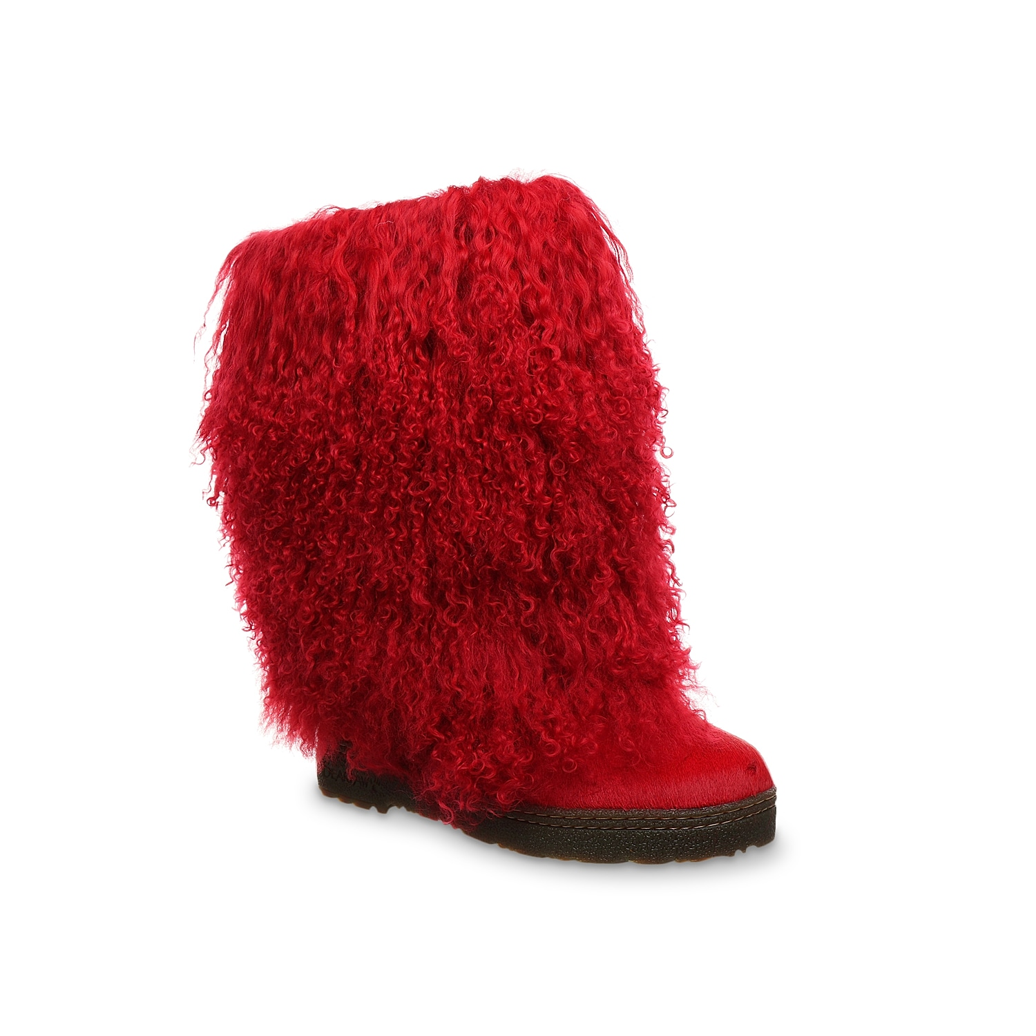 Get the onlooker hooked all day to the mesmerizing Boetis boot from Bearpaw. Comprising curly lamb and cow hair upper for a fascinating look, this boot has wool-blend lining and clear rubber cup sole.Click here for Boot Measuring Guide.