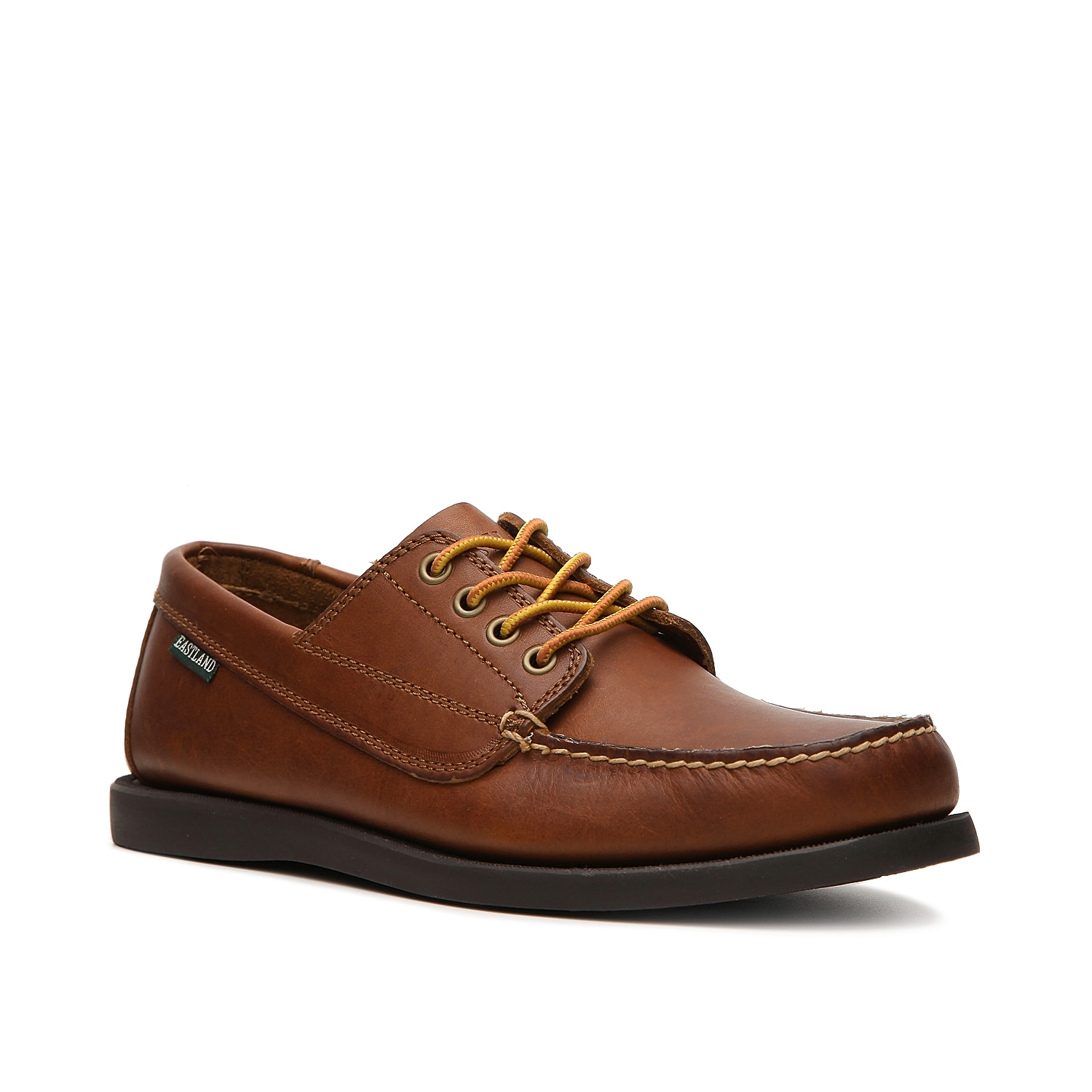The Falmouth boat shoe from Eastland is an iconic style with it\\\'s leather deck shoe design and all day comfort.