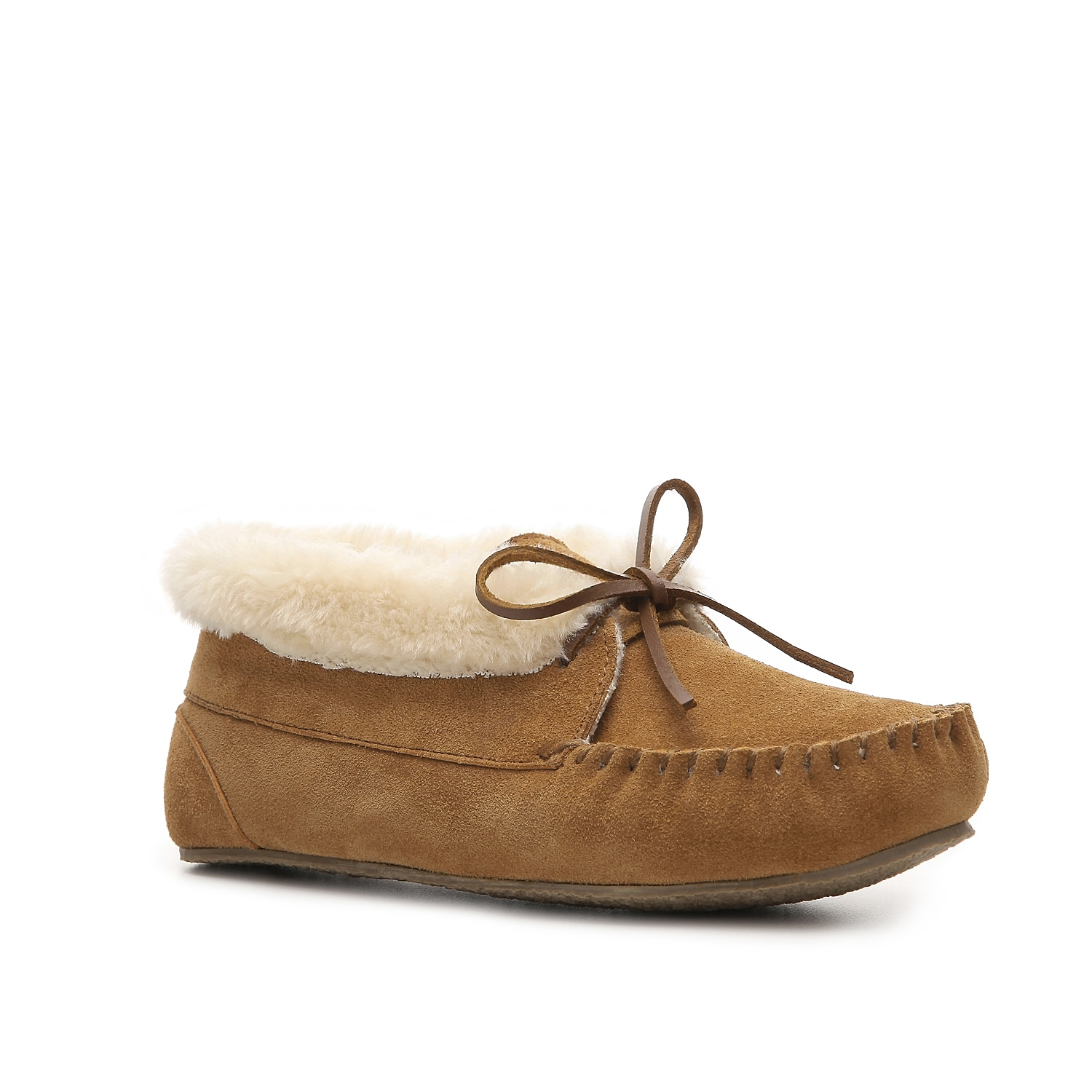 Keep warm and comfortable all season long with these plush Minnetonka slippers. The Julie Junior bootie slipper is a stylish solution for a day of lounging around the house or running to the store.