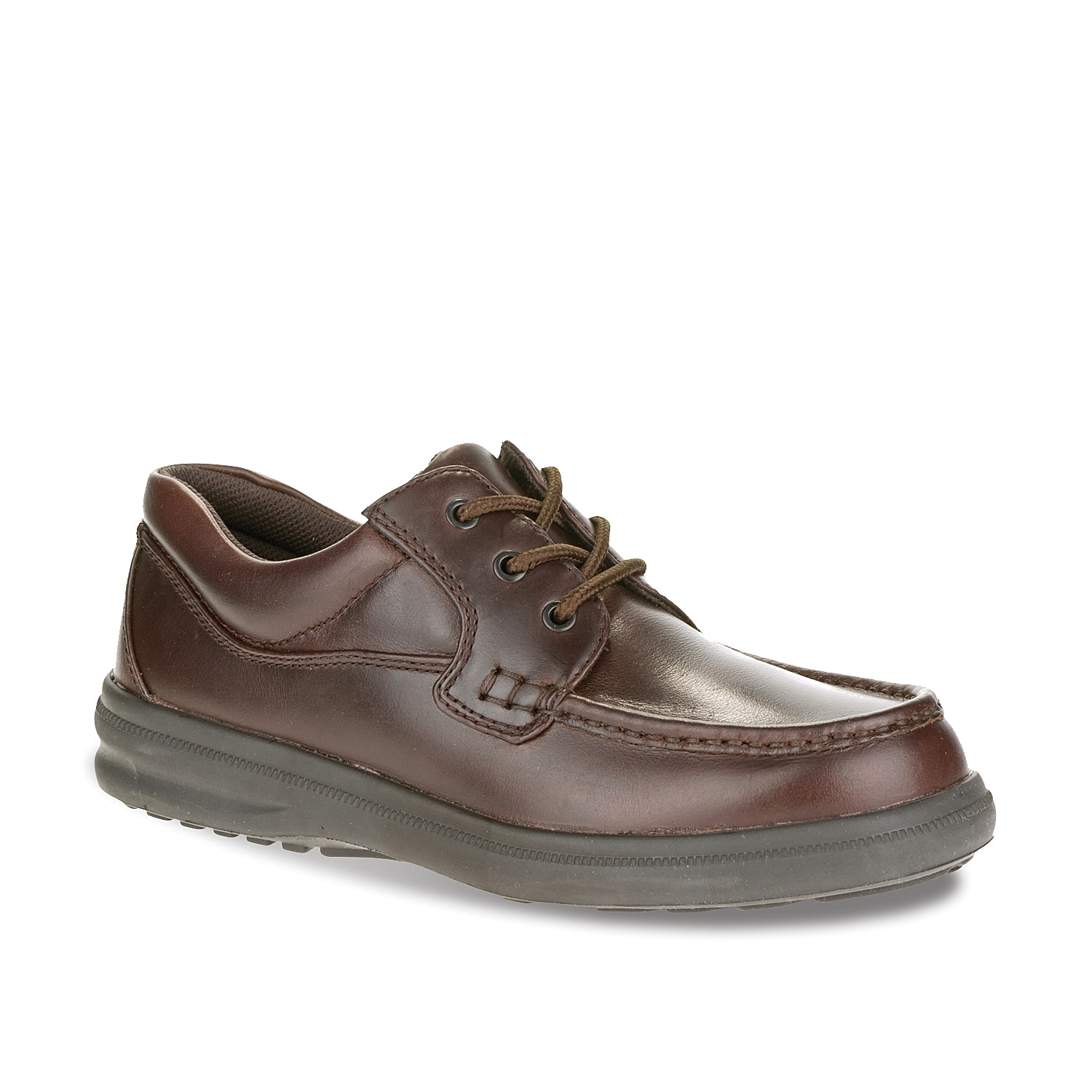 The Gus oxford from Hush Puppies is a traditional favorite. Designed with supreme comfort and flexibility, this lightweight moccasin inspired dress shoe is perfect for everyday wear and will keep your feet feeling terrific no matter what condition.