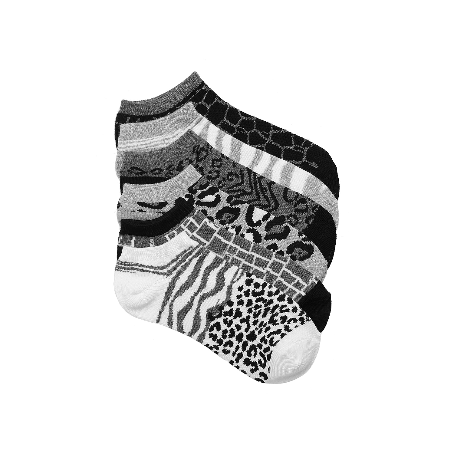 These animal print no show socks from Mix No. 6 are bold, fun and stylish! Pick a favorite from this assorted 6 pack and wear them alone or with your favorite sneakers!