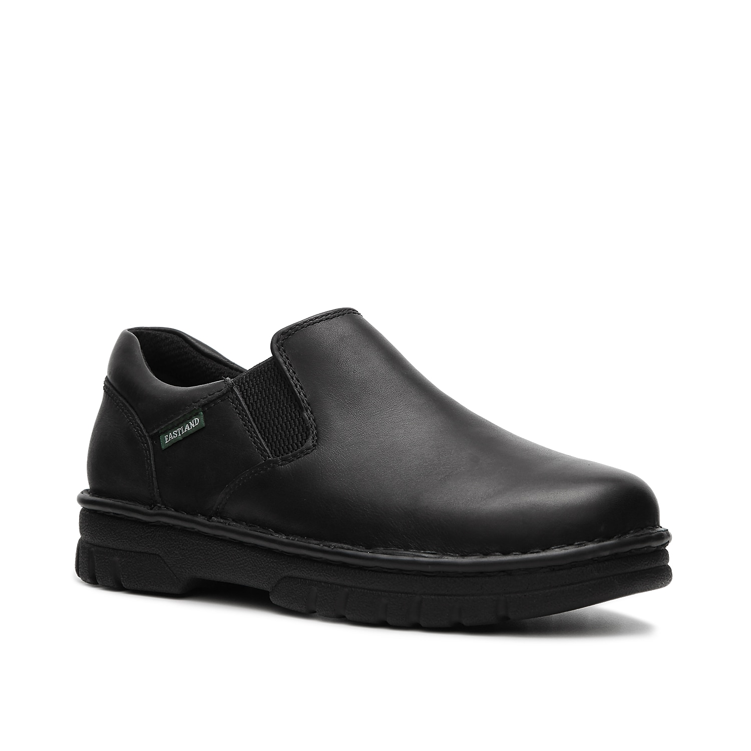 Simple and versatile, the Newport from Eastland will get you from work to play with ease. Slip on this leather shoe with it's dual elastic panels and cushioned insole for all day comfort.