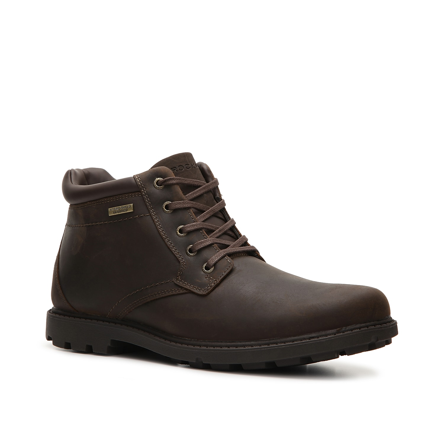 Walk in confidence no matter what the weather sends your way with the Storm Surge chukka boot from Rockport. This waterproof, leather lace-up features technology which provides superior cushioning and comfort!