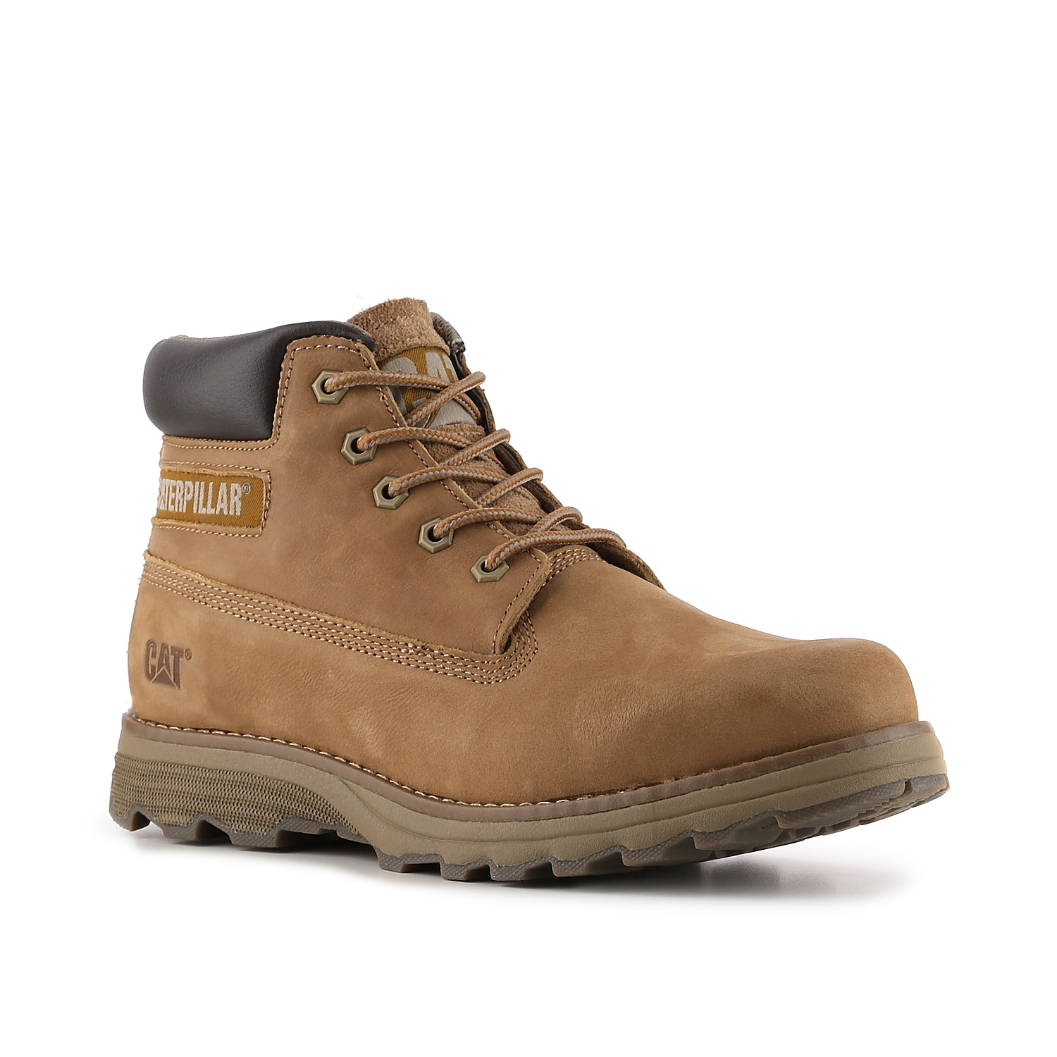 Caterpillar footwear was built to meet the demands of your busy lifestyle and the Founder boot will do just that! This nubuck lace-up boot with suede and leather accents is lightweight and full of cushioning for comfort and style all day long.