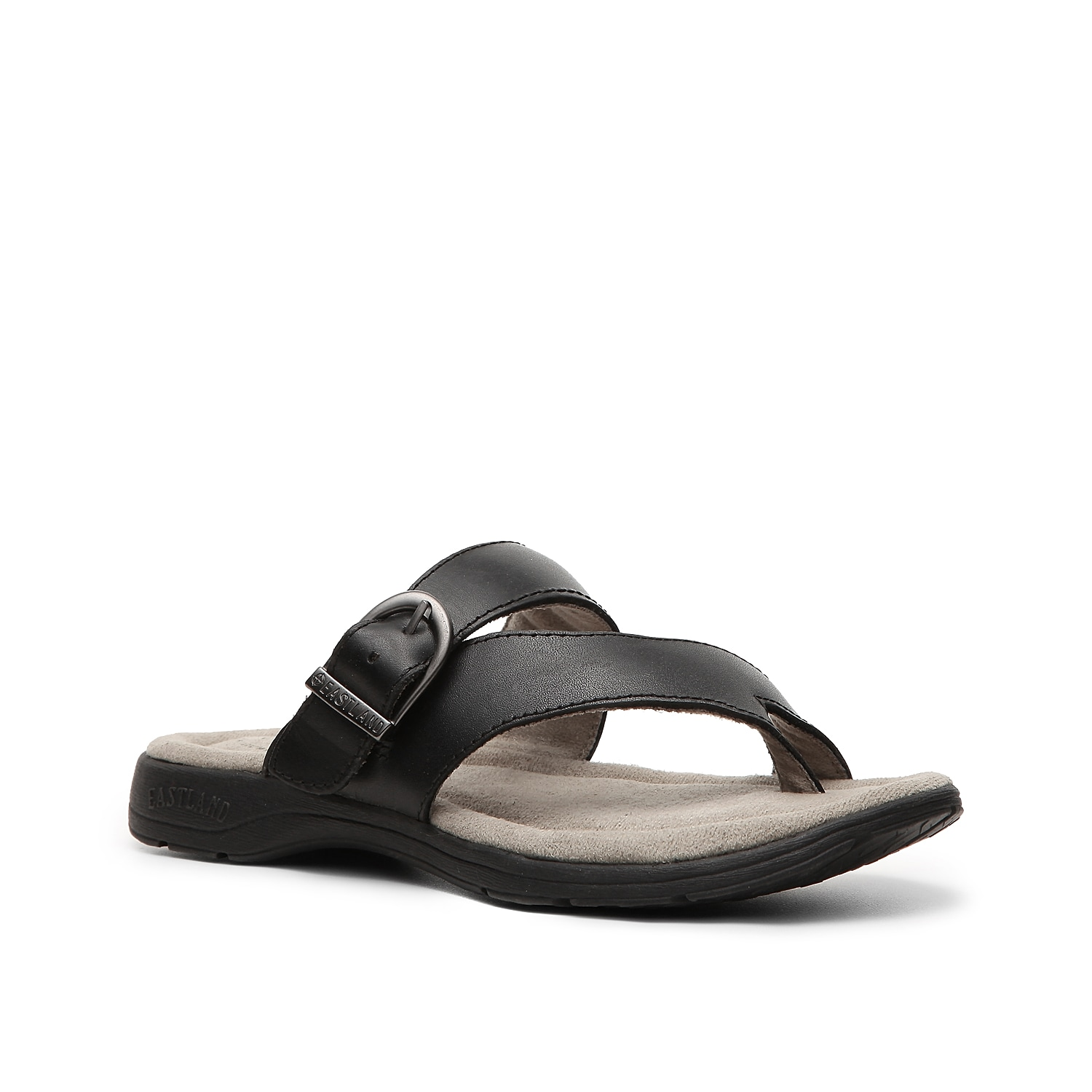 Slide into a versatile leather sandal designed for both comfort and style! With a plush memory foam footbed, the Eastland Tahiti II thong sandal is the perfect flat sandal for all day casual wear.