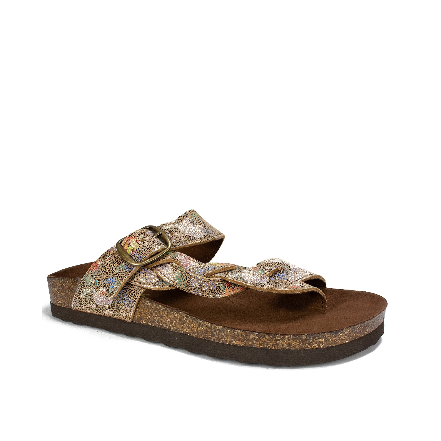 Slide into these comfy leather footbed sandals to complete your warm weather look. Classic and versatile, the White Mountain Crawford thong sandal will become a go-to flat sandal in your casual summer wardrobe.