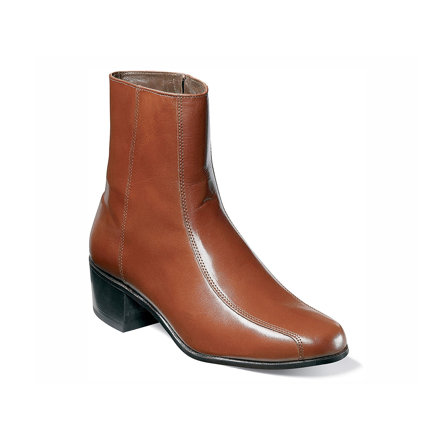 This genuine Florsheim Duke ankle zip boot is a classic that boasts a sleek, understated silhouette.