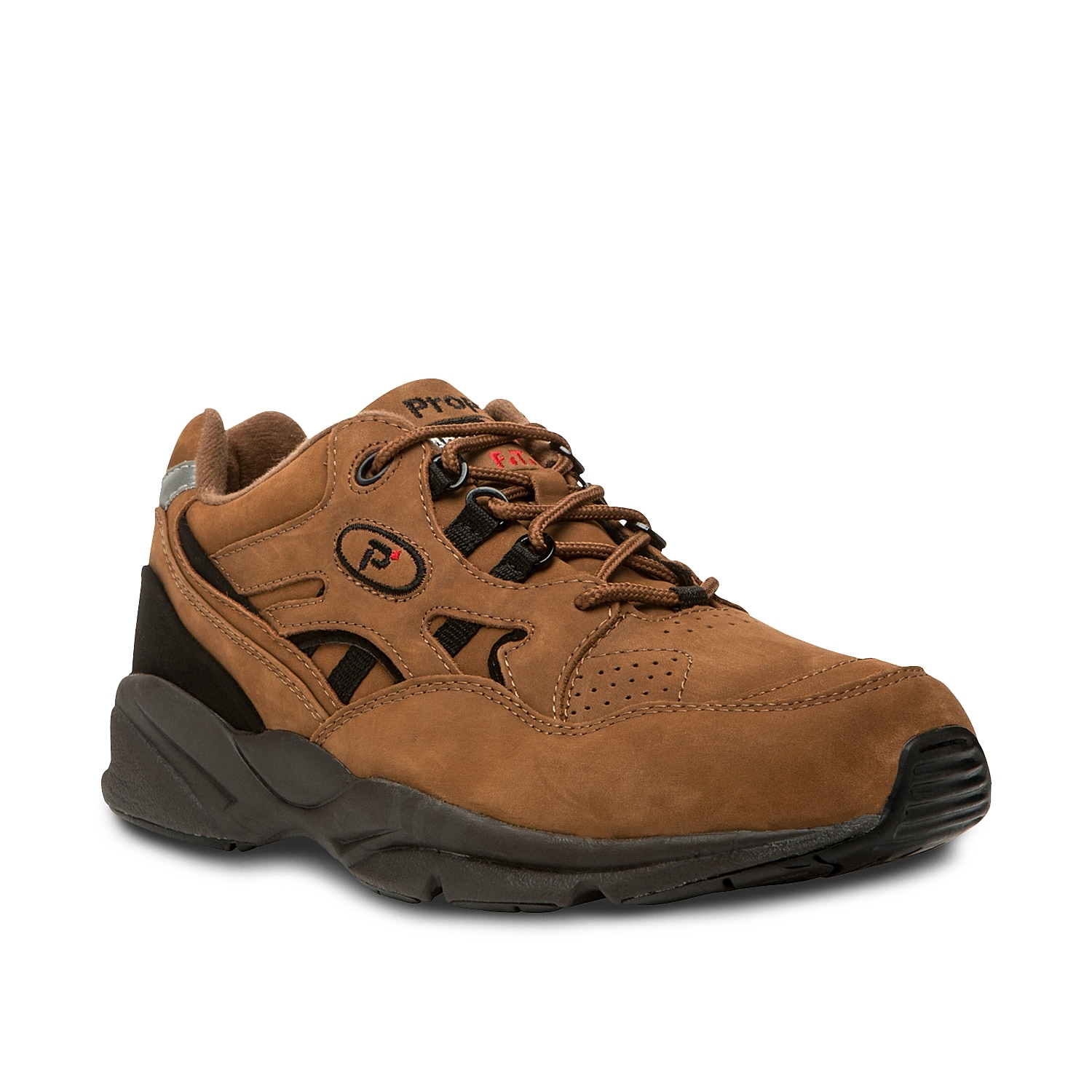 The Stability Walker from Propet is a classic lace-up walking shoe with a slightly dressier look. The EVA midsole features a herring-bone tread rubber outsole for superior traction.