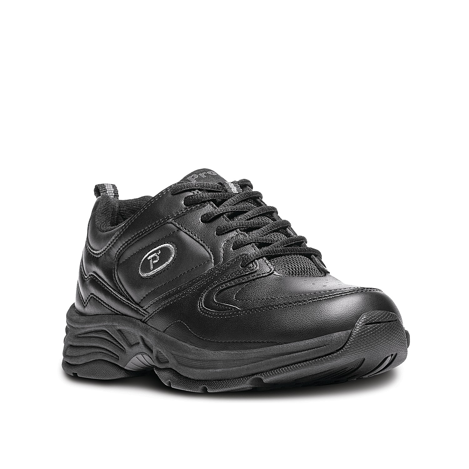 Lace up this contemporary athletic walking shoe--the perfect fit for everyday wear. The double foot bed accommodates extra volume or custom orthotics. And the combination of our cushioned rubber outsole and memory foam insole means hours of comfort wherever you wander.