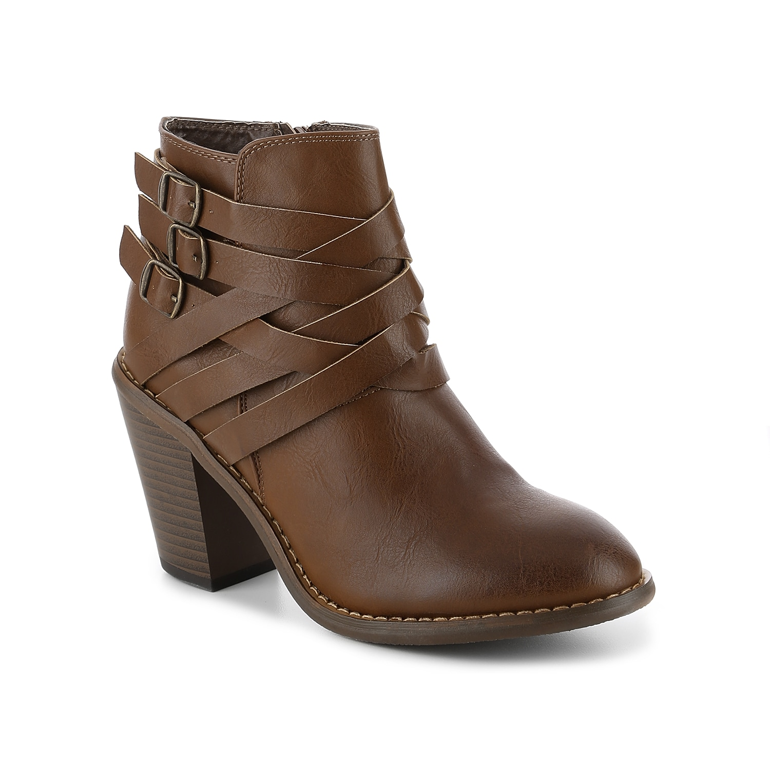 Keep your fall style fresh and fashionable with the Strap ankle boots from Journee Collection! With woven straps and a trendy block heel, these casual booties will polish off any look with effortlessly chic style! Click here for Boot Measuring Guide.