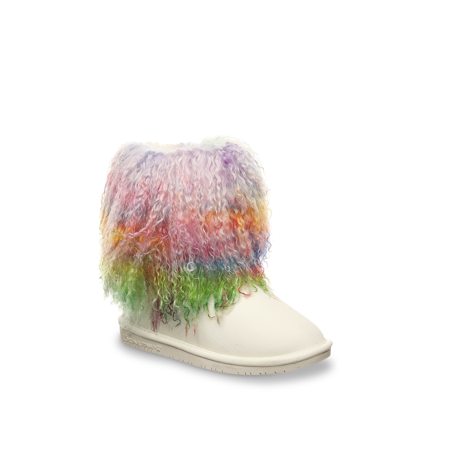 Start her standout style early with the Boo boot from Bearpaw. These suede boots are lined with wool and feature a lamb hair finish to keep little toes warm and cozy! Click here for Kids Size Guide.