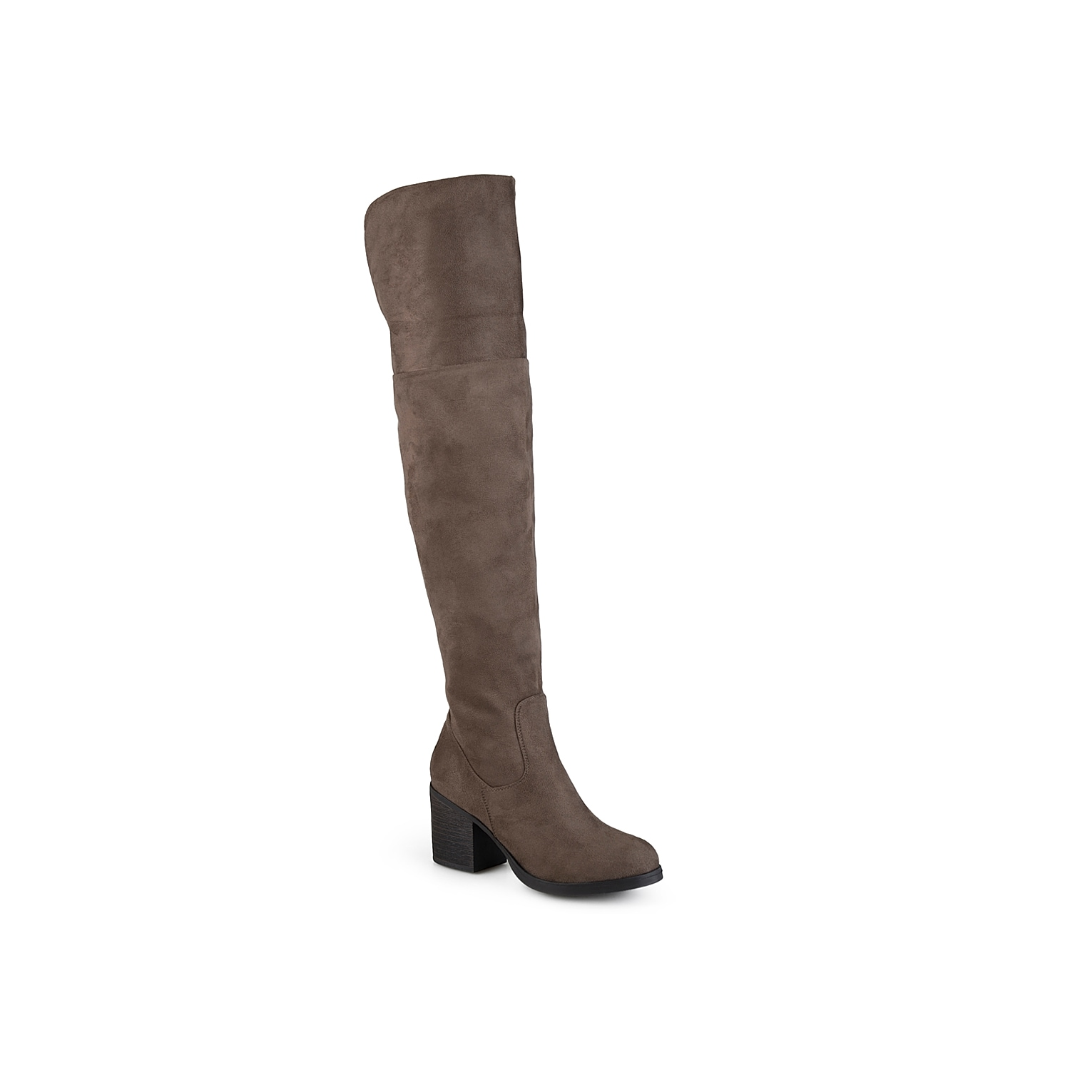 With a clean silhouette and a chic block heel, these versatile thigh high boots have all the details you need to complete your fashionable fall look. Zip up in the Sana over the knee boots from Journee Collection to add a trendy touch to your laid back look.Click here for Boot Measuring Guide.