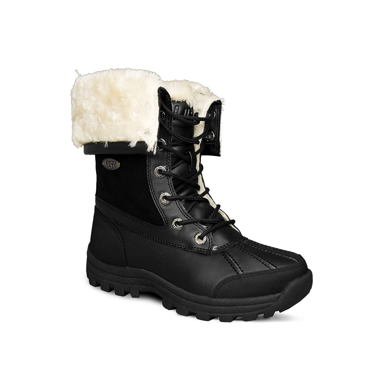 Lace up in the Tambora mid calf boots from Lugz for a fashionable update to your casual cold weather wardrobe! With cozy faux fur lining and a cushioned insole, these durable winter boots offer both comfort and style!Click here for Boot Measuring Guide.