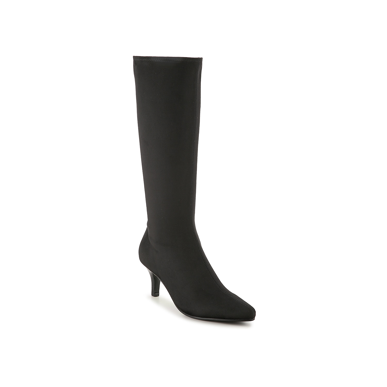 Searching for a versatile tall boot to dress up your classic look? Impo has you covered with the Norris knee high boots! With a modest kitten heel and a sleek pointed toe, these stunning stretch boots will polish off any ensemble with sophisticated style.Click here for Boot Measuring Guide.