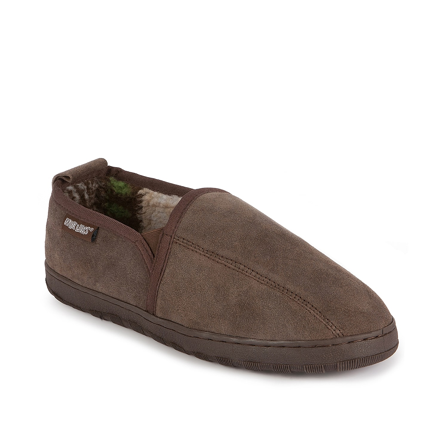 For a look and feel that will keep you feeling and looking good, Muk Luks has created the Eric suede slip-on to keep you light on your feet this season.