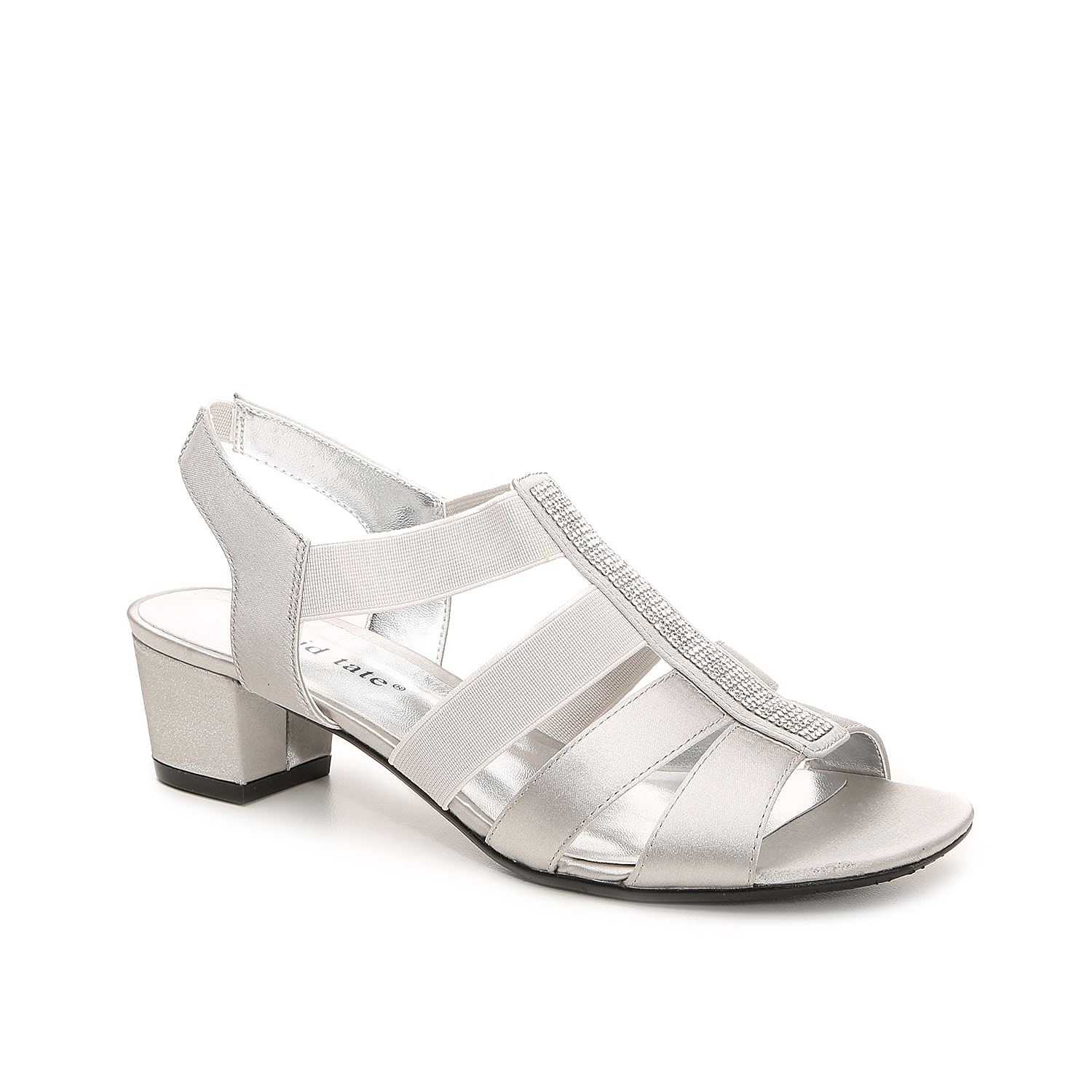 With soft satin and rhinestone embellishments, the Event block heel sandal from David Tate will pair easily with your evening attire.
