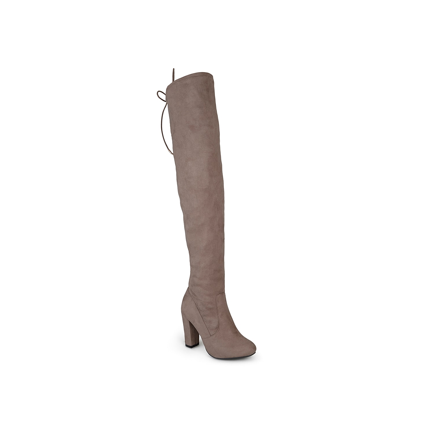Jump start your fall wardrobe with the Maya high heel boots fromJournee Collection! Pair these thigh high boots with a skirt for a stunningly sleek style!Click here for Boot Measuring Guide.