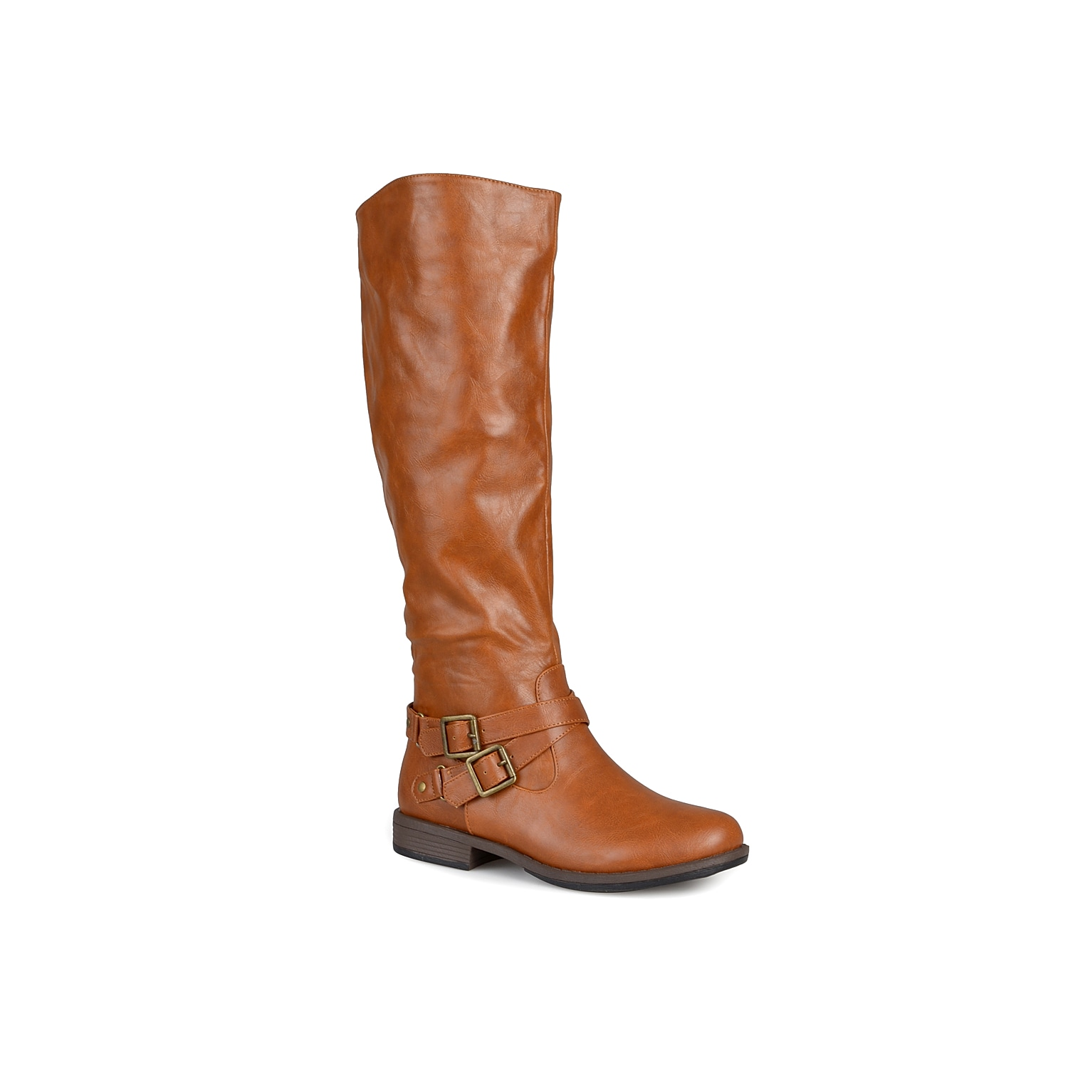 Classic and versatile, the April knee high boot from Journee Collection will become your go-to this fall! With a riding boot design, these trendy tall boots are a must-have for any outfit! Click here for Boot Measuring Guide.
