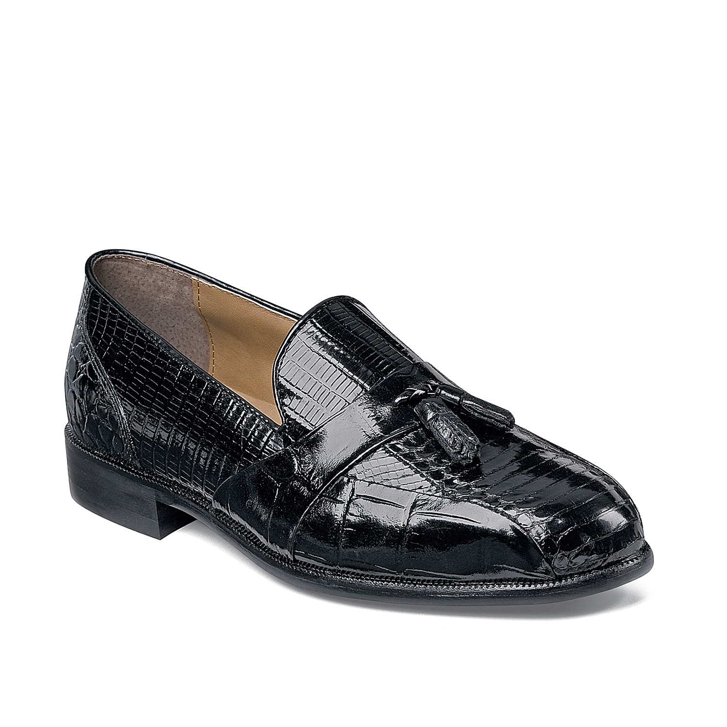 For a classic contemporary leather loafer that will complement your favorite dress looks, the Stacy Adams Alberto leather slip-on will surely fit the bill!