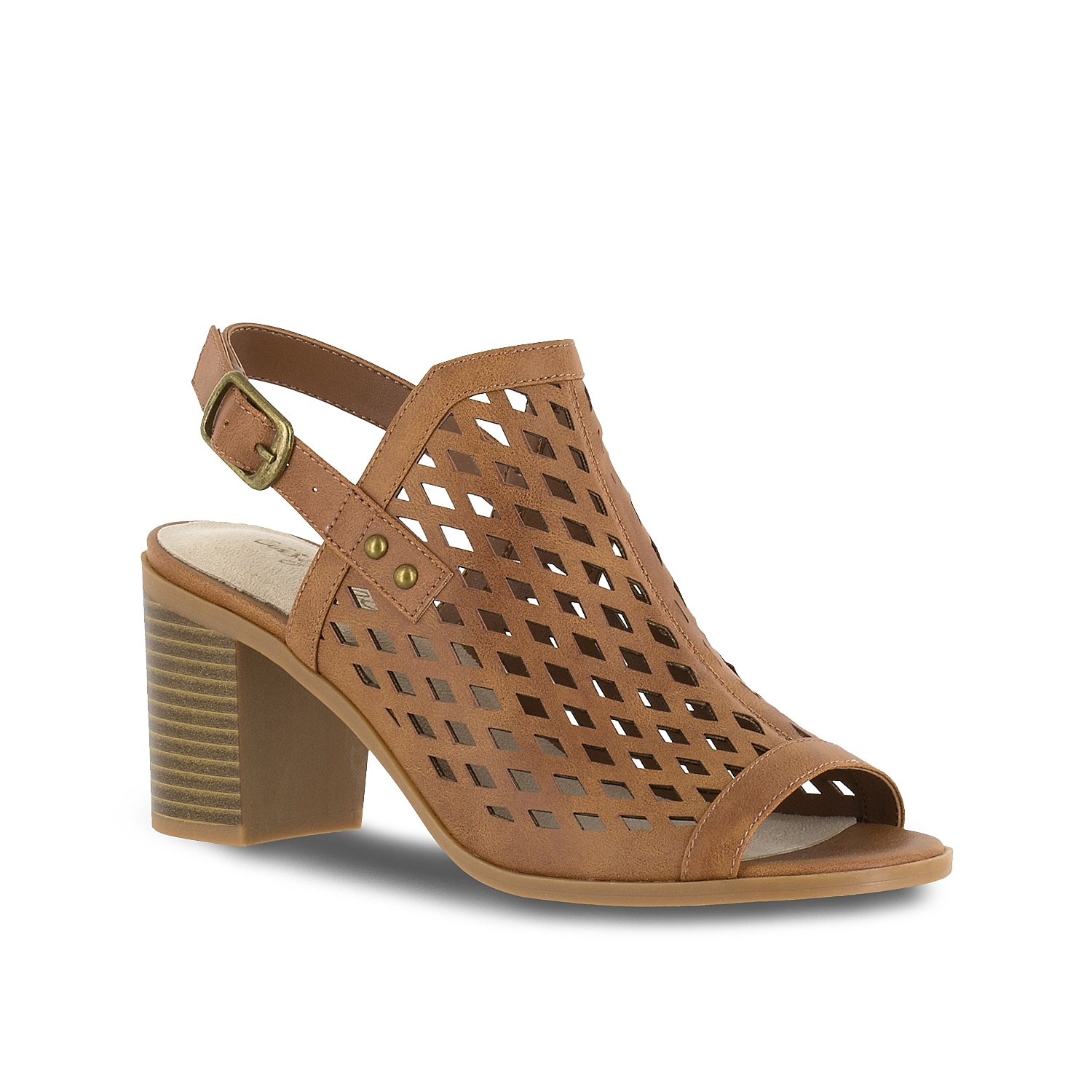 A slingback with diamond cut out detailing, the Erin by Easy Street is a transitional sandal to carry you between seasons. This shootie features a contemporary block heel for style and stability.