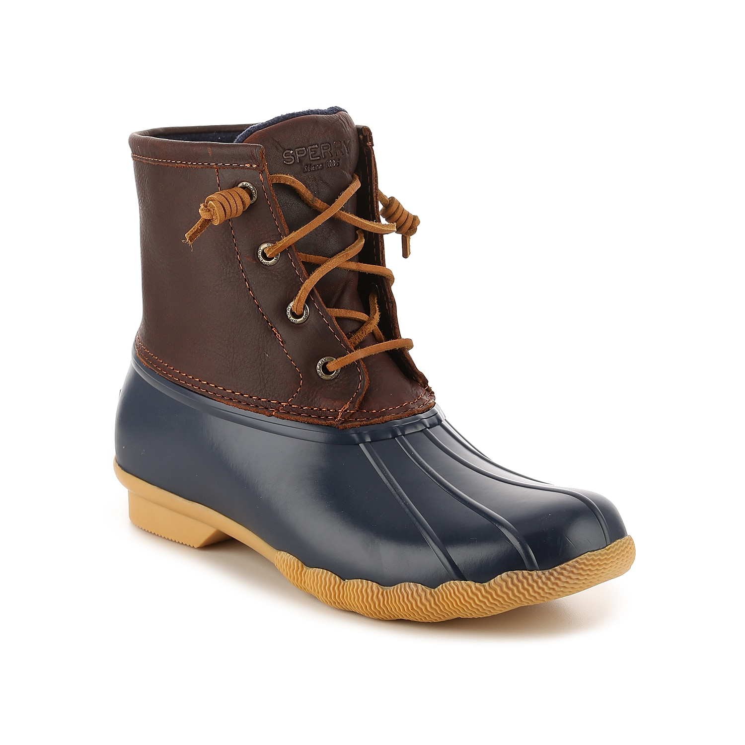 Zip up in these waterproof winter boots from Sperry to complete your cold weather look! With a trendy duck boot design, the Saltwater snow boots will keep you cute and cozy all season long!Click here for Boot Measuring Guide.