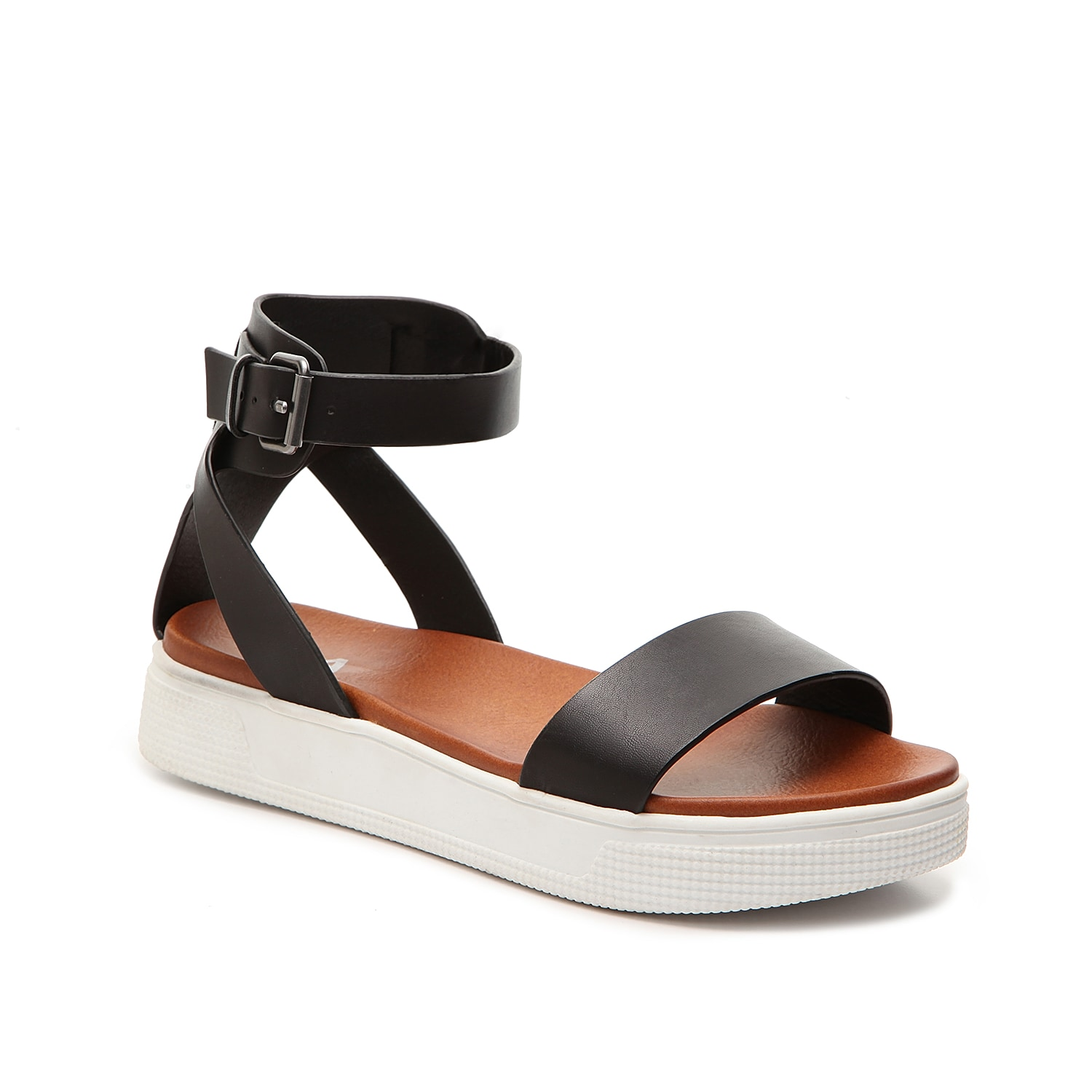 Give your casual summer wardrobe a fresh and fashionable update with the Ellen sandal from Mia! With two-piece styling and a sporty flatform, this versatile pair is perfect for pairing with jeans and sundresses.