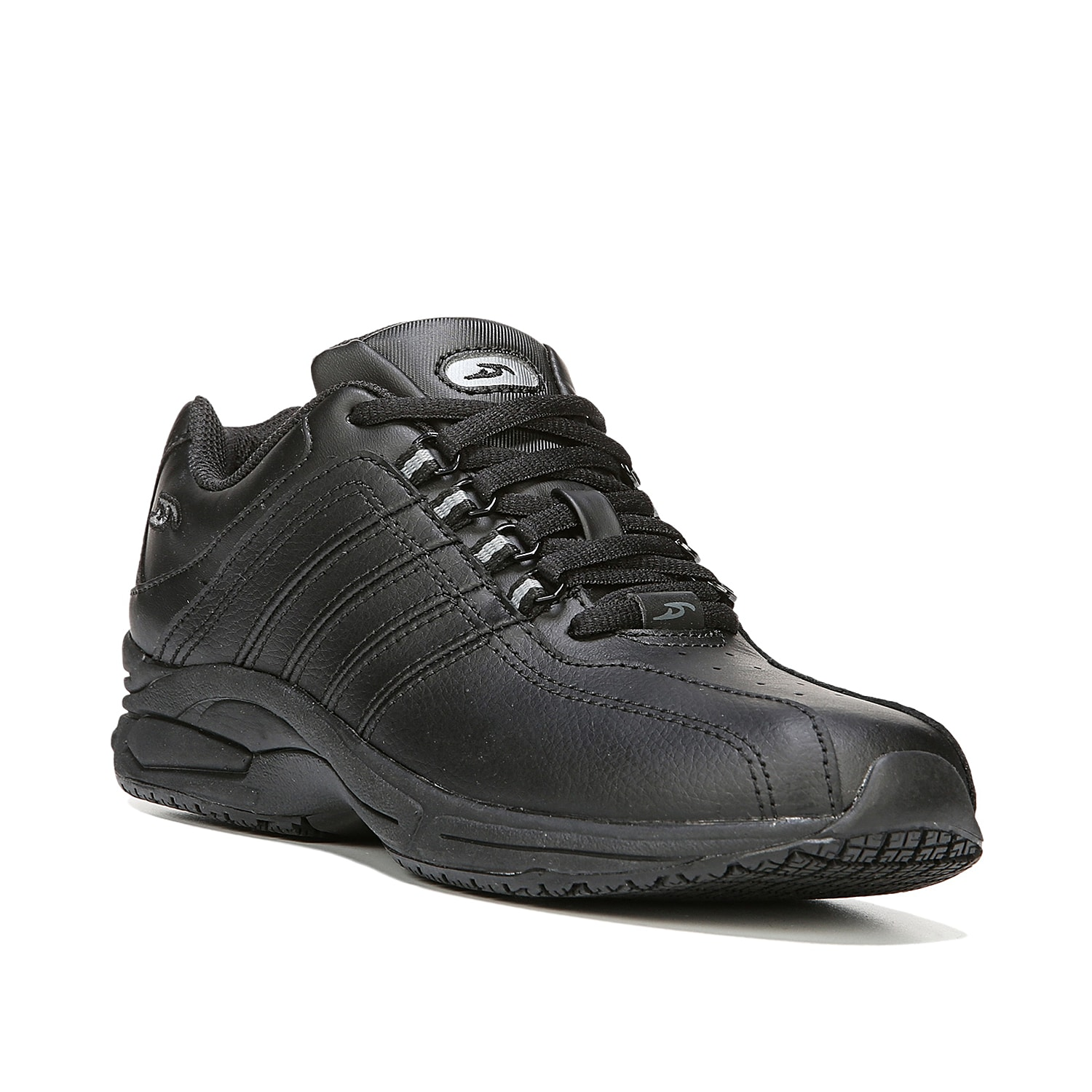 Get a work shoe that keeps you comfy and safe! The Kimberly sneaker from Dr. Scholl\\\'s is enhanced with a memory foam footbed and slip-resistant safety sole.