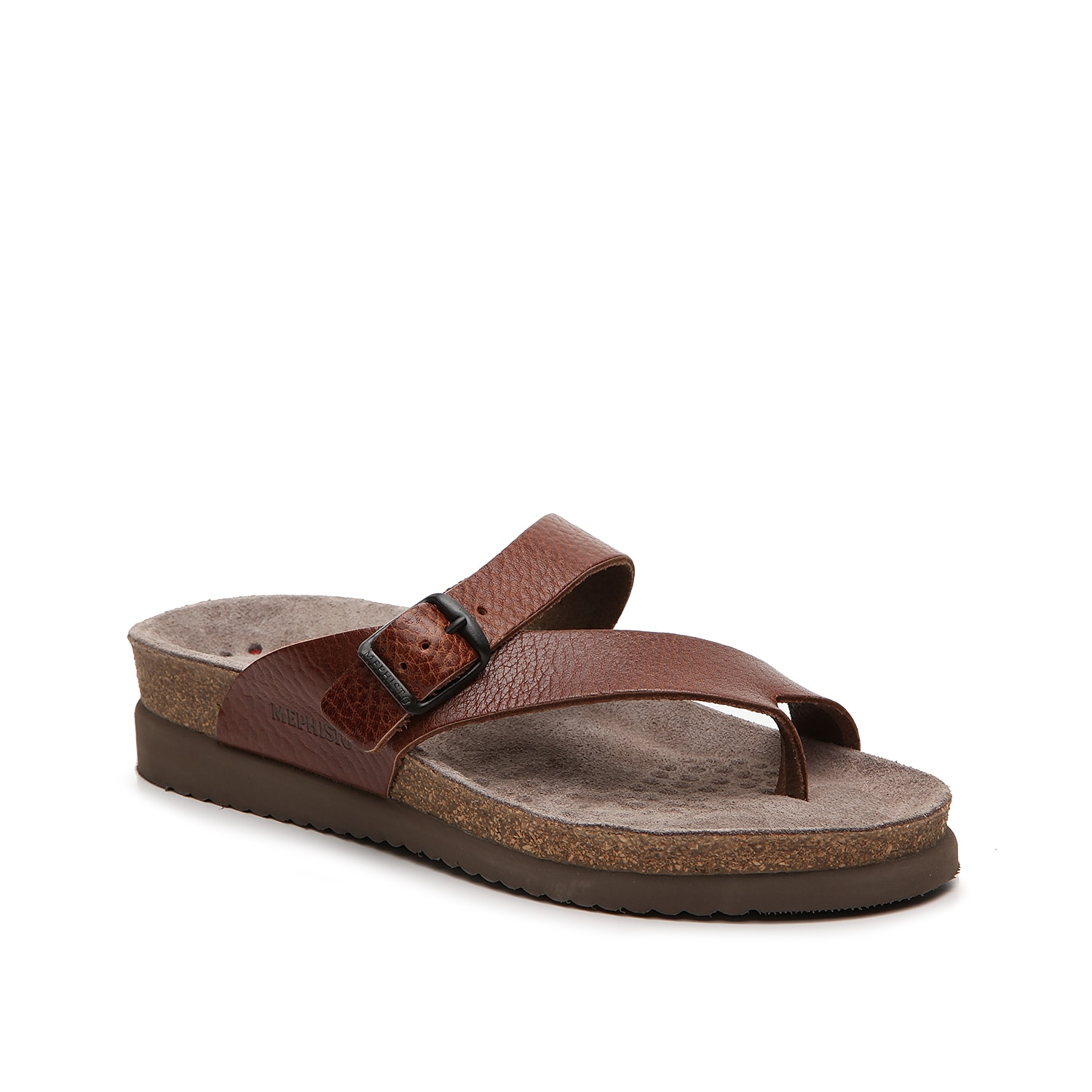Feel fashionably carefree in the Helen sandal from Mephisto. These supportive slip-ons feature a smooth leather finish and cork wedge for extra texture.