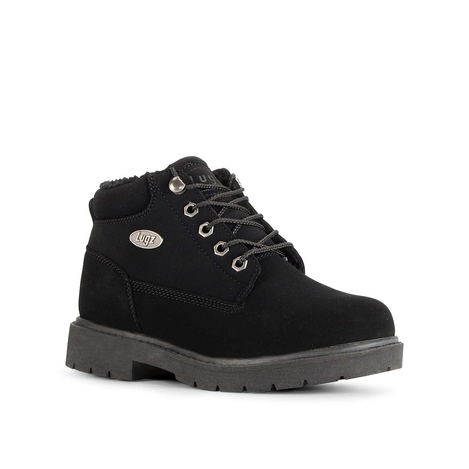 Designed for utmost comfort, the water-resistant Drifter Fleece LX Work Boot by Lugz is a must-have for cold weather conditions. Cozy fleece lining keeps your feet warm, while flexastride molded memory foam insole and lugged outsole offers all day comfortable wear.