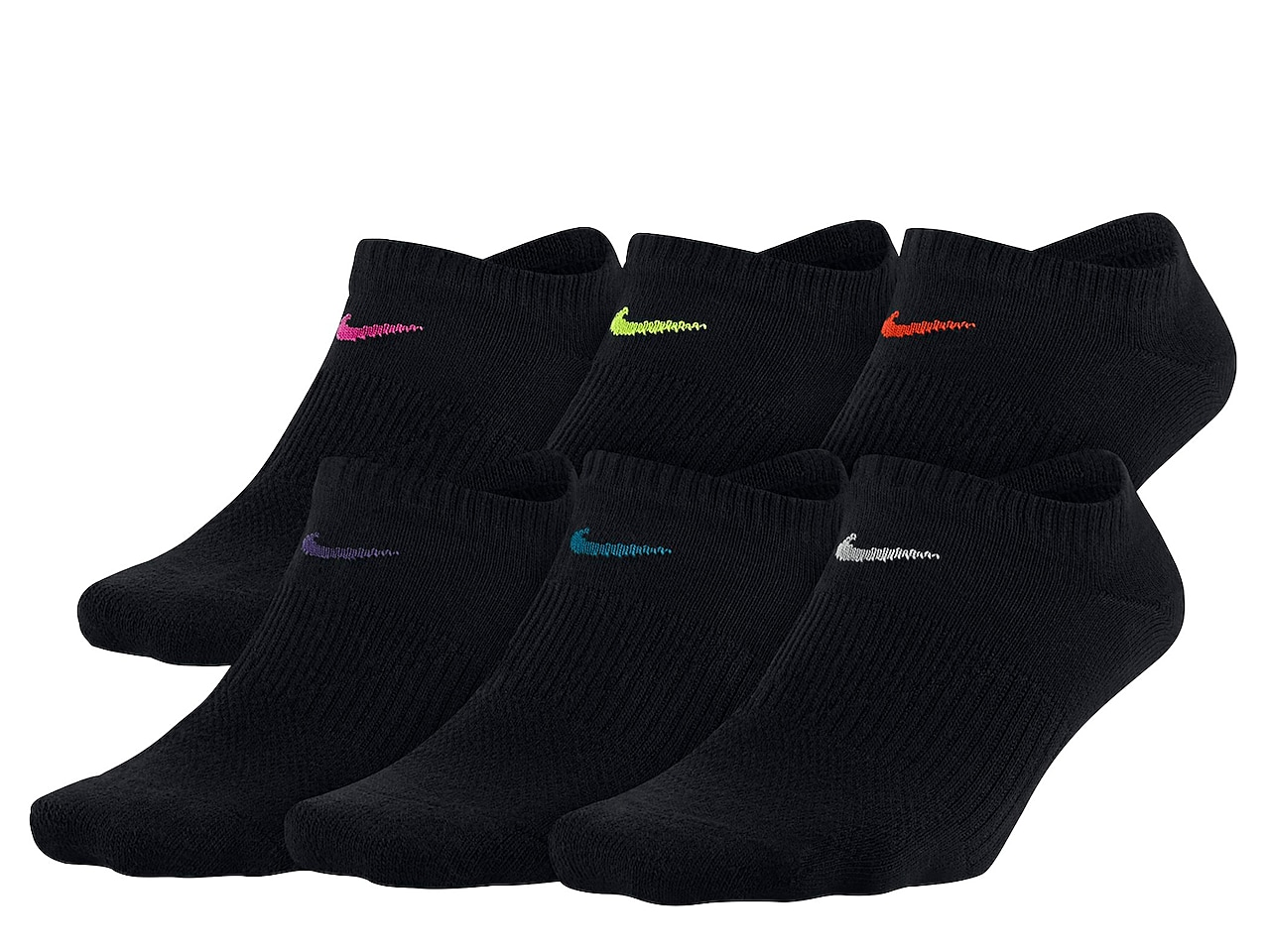 Performance Lightweight Women's No Show Socks - 6 Pack