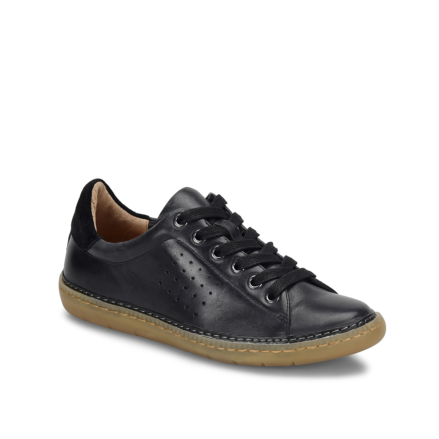 The Arianna sneaker from Sofft is a chic staple in every fashionista\\\'s closet. Highlighted with perforated detail on the sides, this sneaker features padded collar and leather lined footbed.