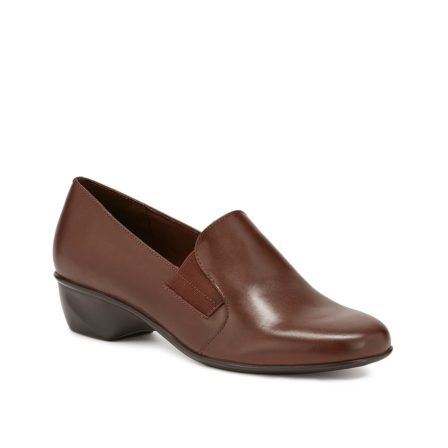 Unrivalled fashion takes on practical design in the Walking Cradles Teri slip-on. Featuring a textured leather upper, this slip-on offers a snug fit with its double elastic side gores and flexible unit bottom.