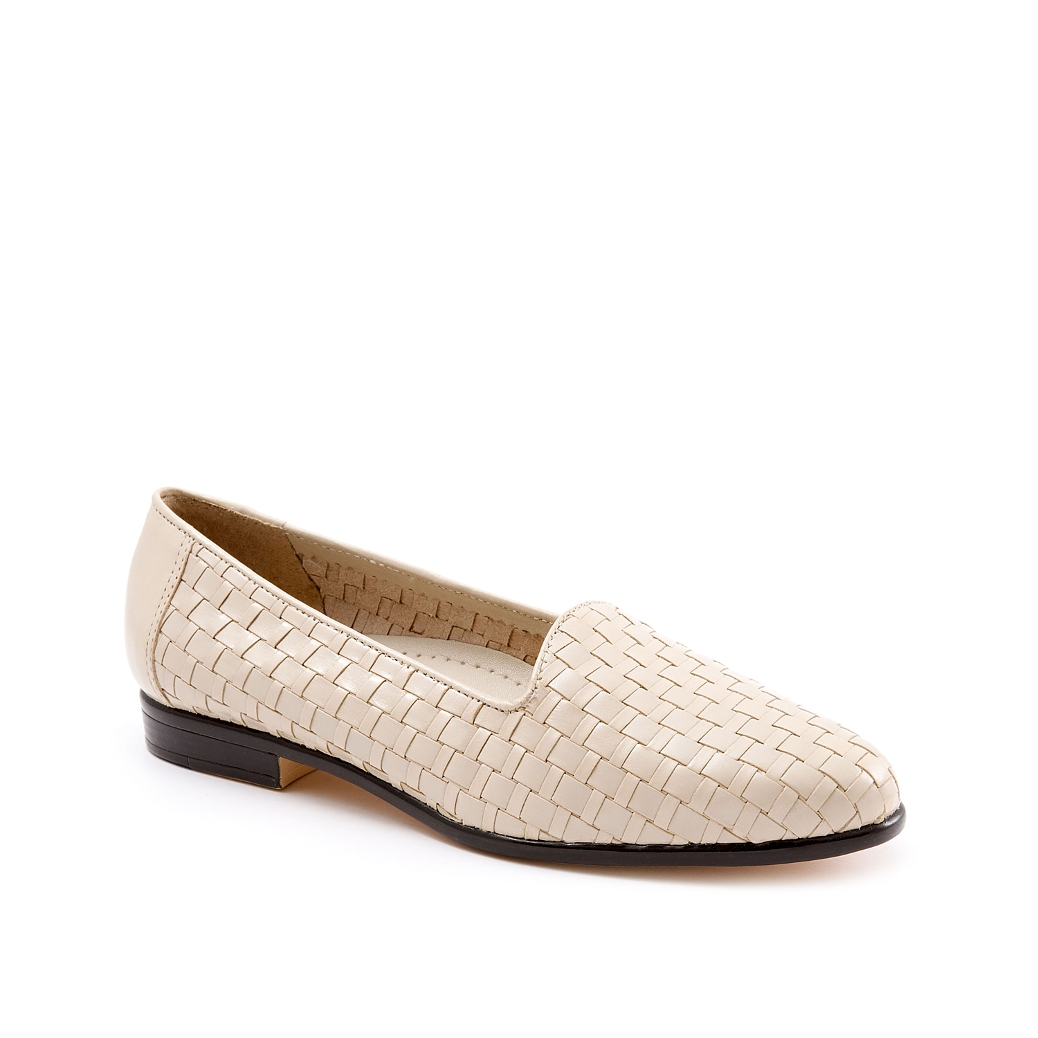 Slip on the Liz loafer from Trotters for a sophisticated yet trendy addition to your wardrobe. A woven leather upper adds interest to a timeless design for a style that will pair with any of your tailored looks!