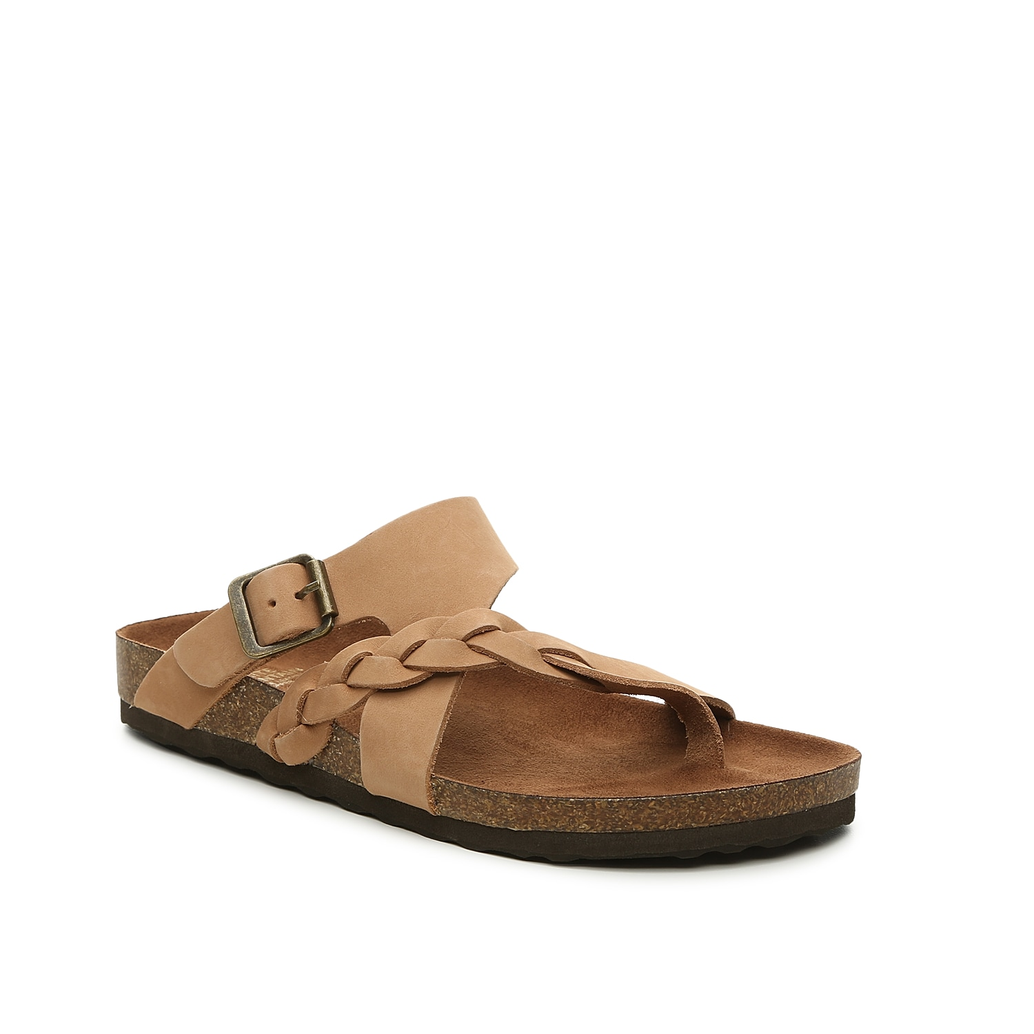 Slip on these comfy slides to complete your casual look. Classic and versatile, the Hamilton flat sandal from White Mountain will become your go-to on warm days.