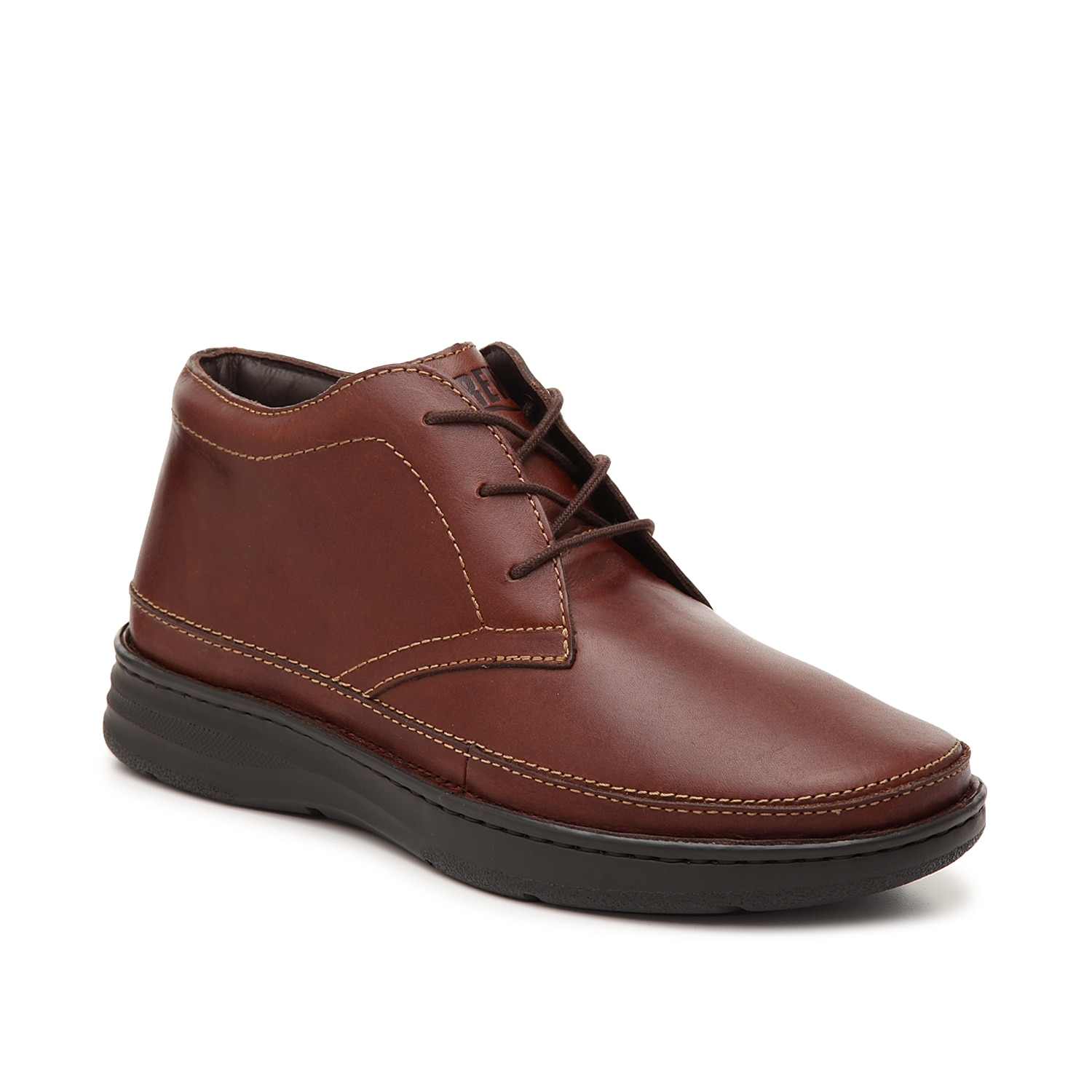 Stay stylish without sacrificing comfort with the Keith chukka boot from Drew. This ankle boot features a Gel System footbed and sole to absorb impact!