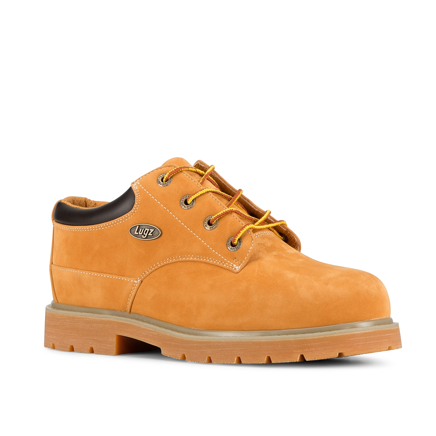 With rugged appeal and classic styling, the Drifter Lo work boot will keep you comfy and safe while you\\\'re on your feet, thanks to its round steel toe and slip-resistant sole.