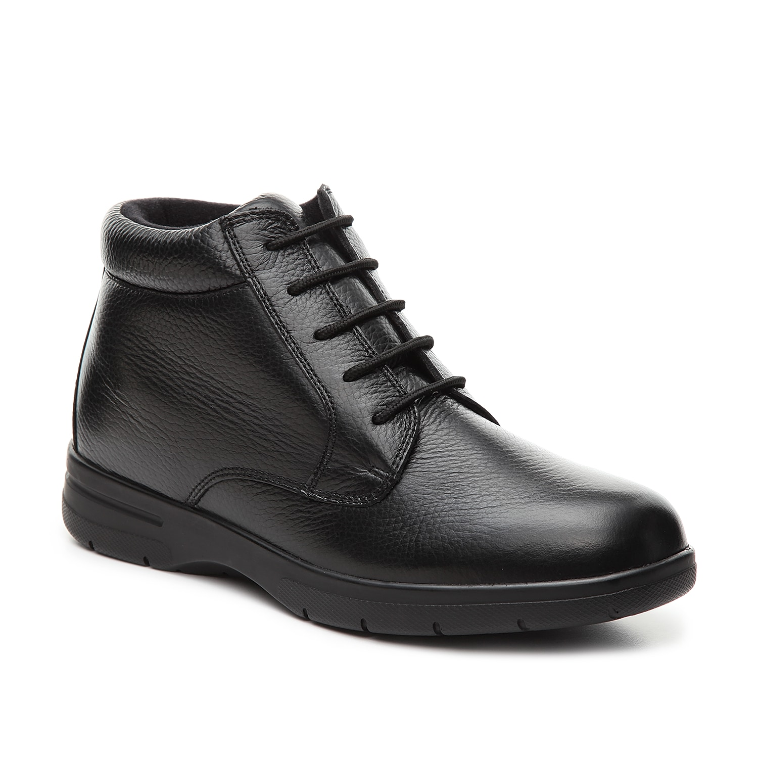 Look and feel great while wearing the Tucson boot from Drew. This leather pair comes equipped with a cushioned insole for custom comfort.