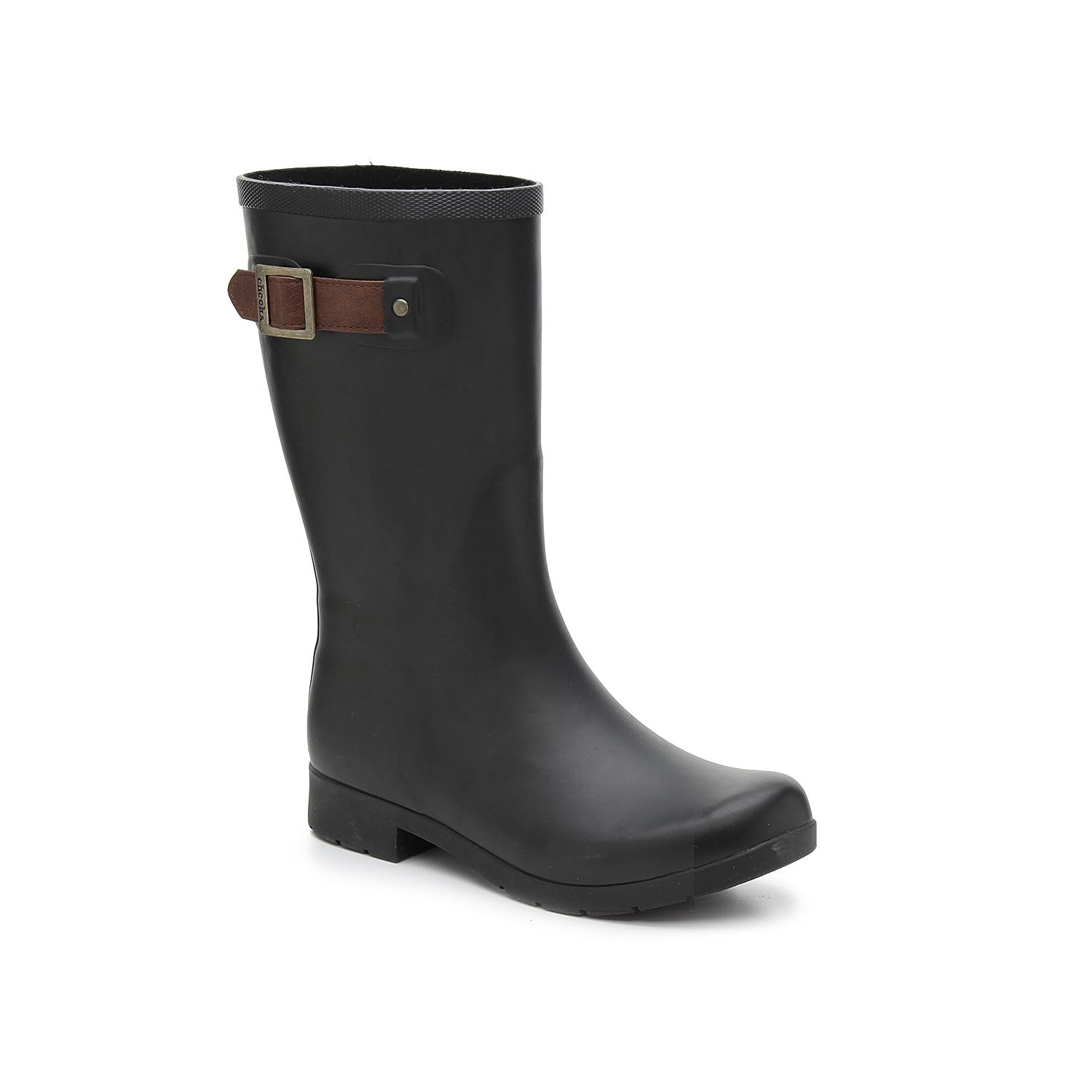 You will love the Freemont rain boot by Chooka for rainy day adventuring! This rubber wellie features a classic side buckle strap and a roomy toe to give your rainy wardrobe a comfort-focused update. Click here for Boot Measuring Guide.