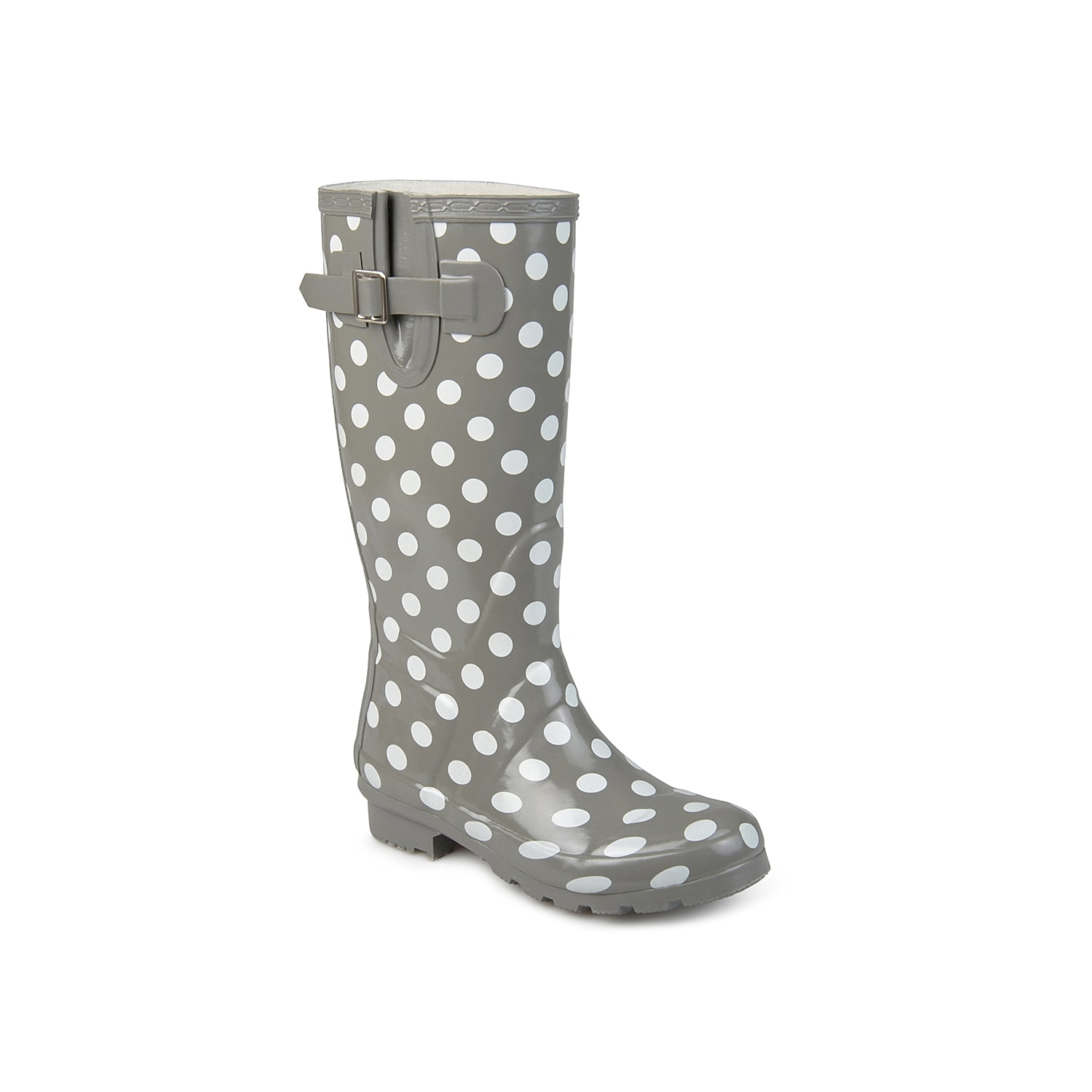 Add a pop of personality to your look on gloomy days with the bold Mist rain boot from Journee Collection. These wellies feature a waterproof rubber design to keep your feet dry while splashing through puddles. Click here for Boot Measuring Guide.