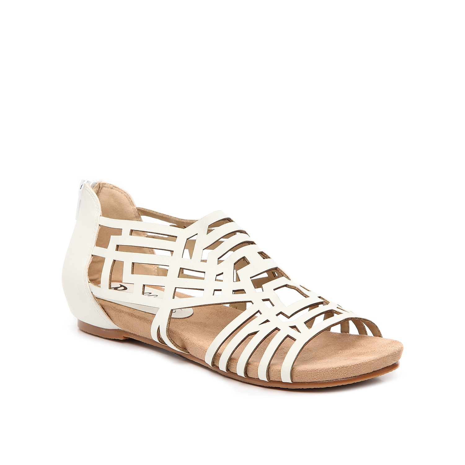 Show off your trendy chic style with the Nazareth wedge sandal from Bellini. A geometric laser cut upper and low wedge heel add a unique vibe to this pair.