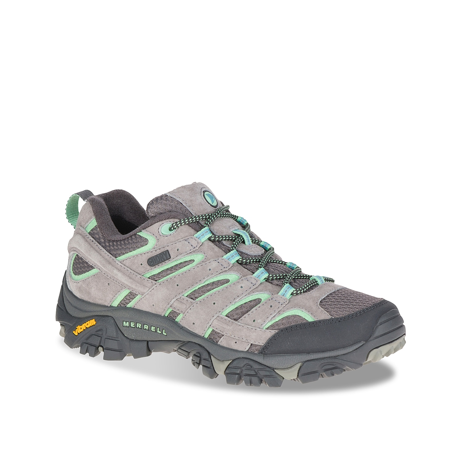 Never fear adventure when you have these Merrell hiking shoes at the ready. The Moab 2 Waterproof sneaker is a breathable hiker that\\\'s well ventilated and deeply cushioned for refreshing comfort. A closed-cell bellows tongue keeps moisture and debris out, while an air cushion unit in the heel absorbs shock for increased stability.