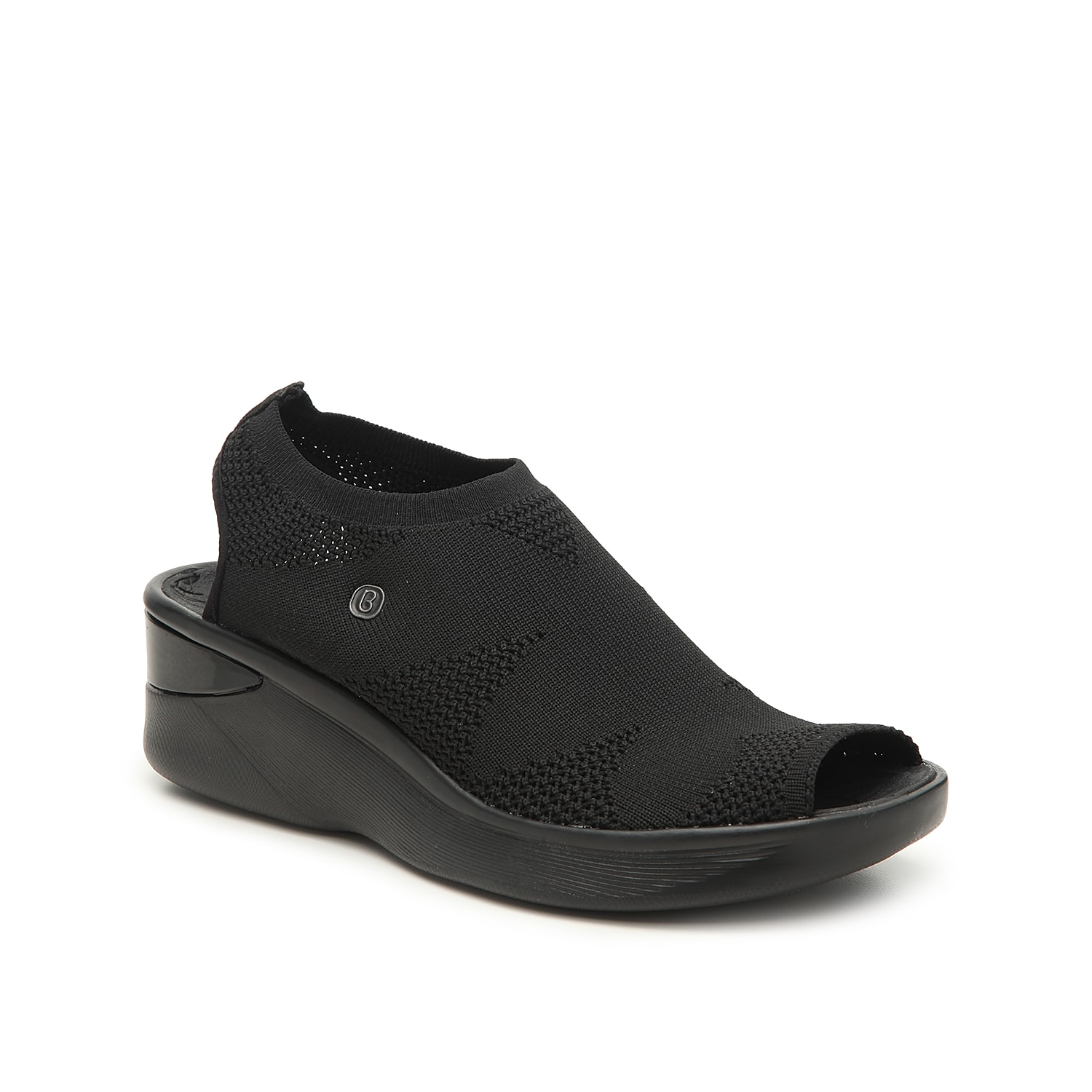 Combine fashion and function with the Secret sandal from BZees. With a stretch fabric design and BZees Cloud Technology footbed, these wedges will give you the support you need while staying stylish.