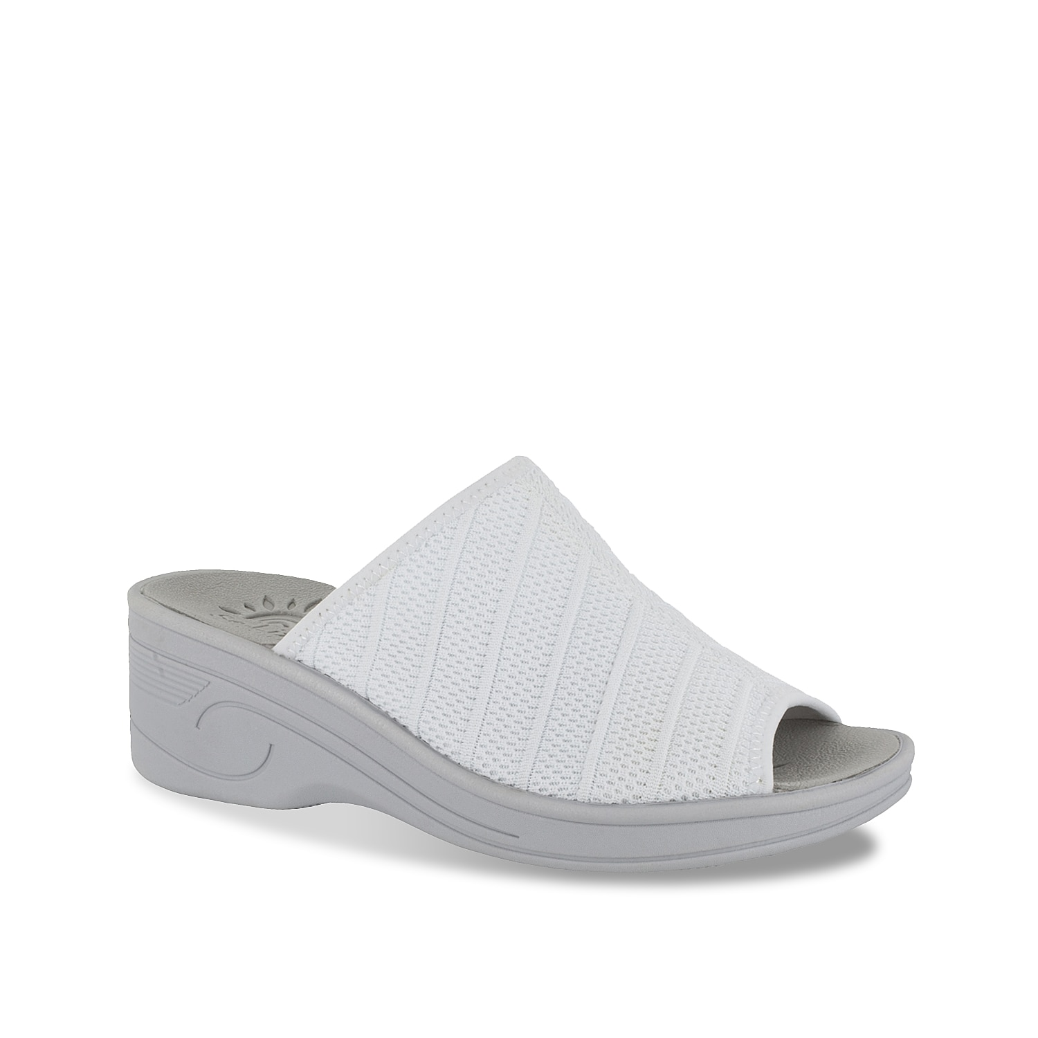 The Airy sandal from Easy Street will add a pop to your warm-weather look. These wedges feature a stretchy upper and SoLite cushioned footbed for effortless comfort.