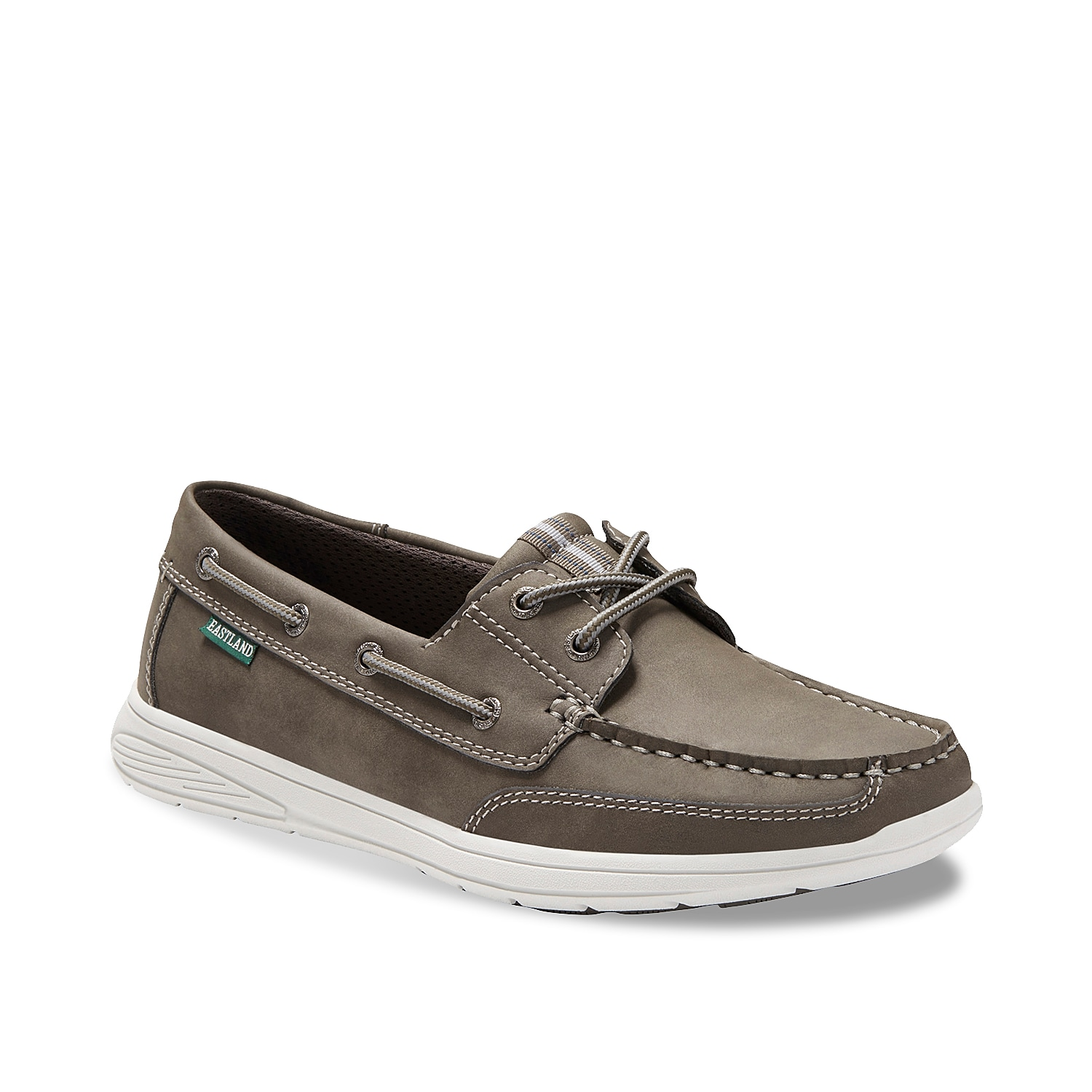 Let the Benton boat shoe from Eastland take you through the warm weather season in style! An Active Memory Foam footbed will keep you comfortable all day long.