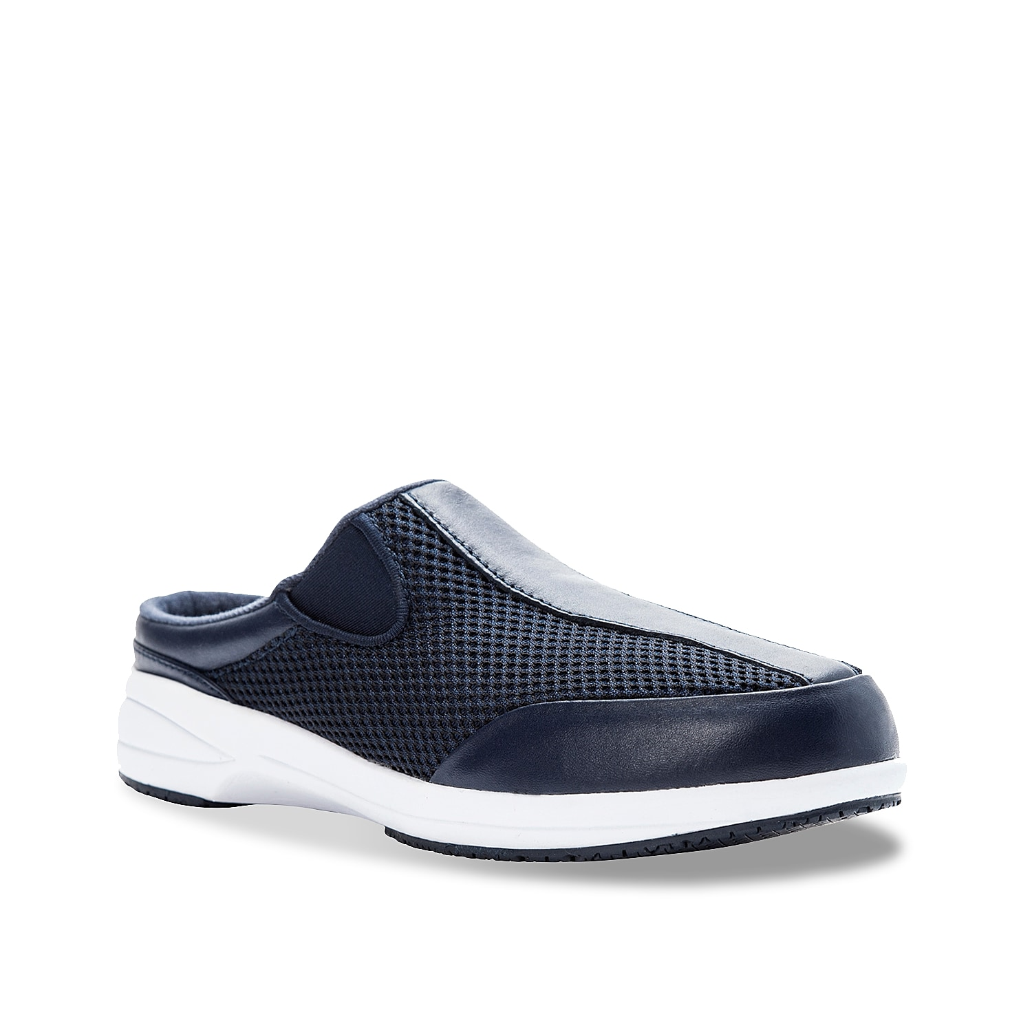 You\\\'ll love the lightweight Washable Walker slip-on sneaker from Propet. This work shoe features a removable cushioned insole for all-day comfort while on the job!