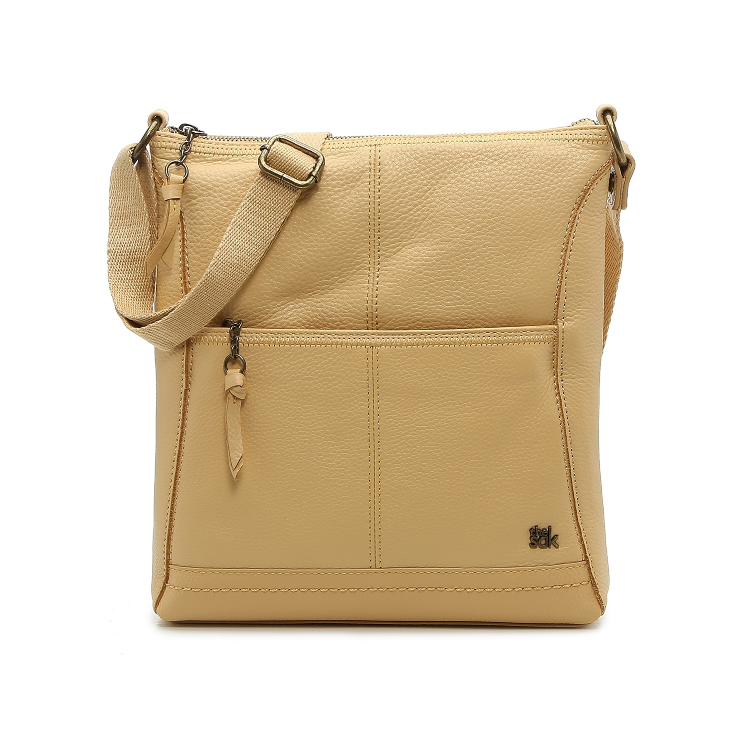 Keep your on-the-go essentials close with the Iris crossbody bag from The Sak. This compact handbag is made from smooth leather for lasting wear.