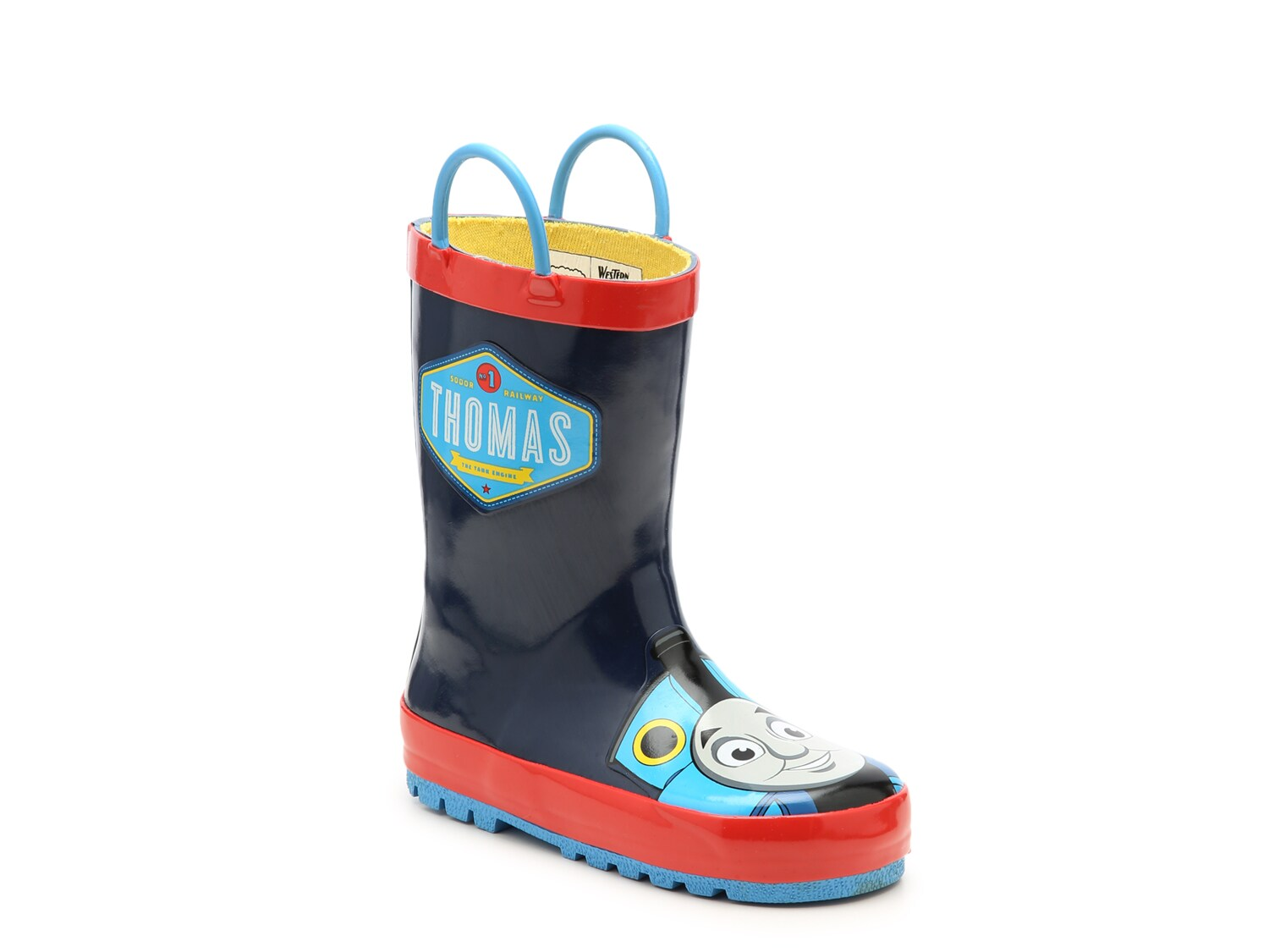 *TODDLER BOYS THOMAS THE TRAIN SLIP ON FLIP FLOP SANDALS BLUE LIGHT UP CENTER