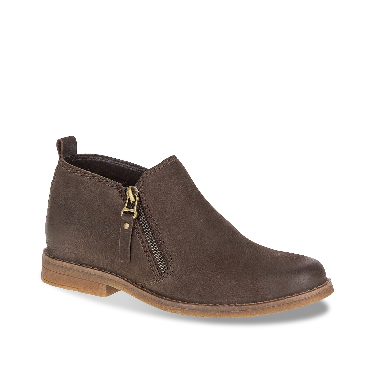 The Mazin Cayto bootie from Hush Puppies will pair with nearly any casual look! This ankle boot features a hidden wedge heel for added height!
